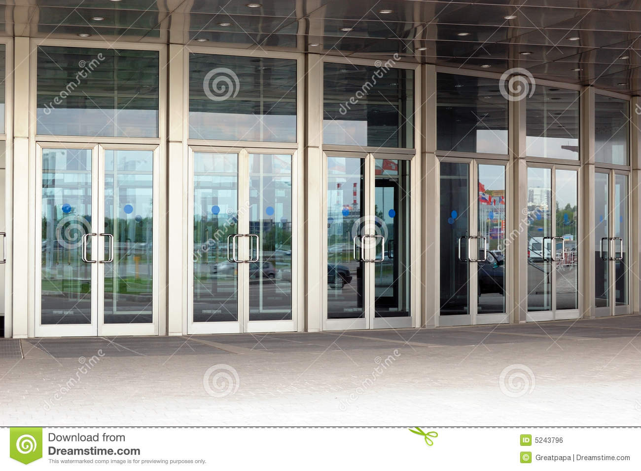 glass doors royalty free stock image
