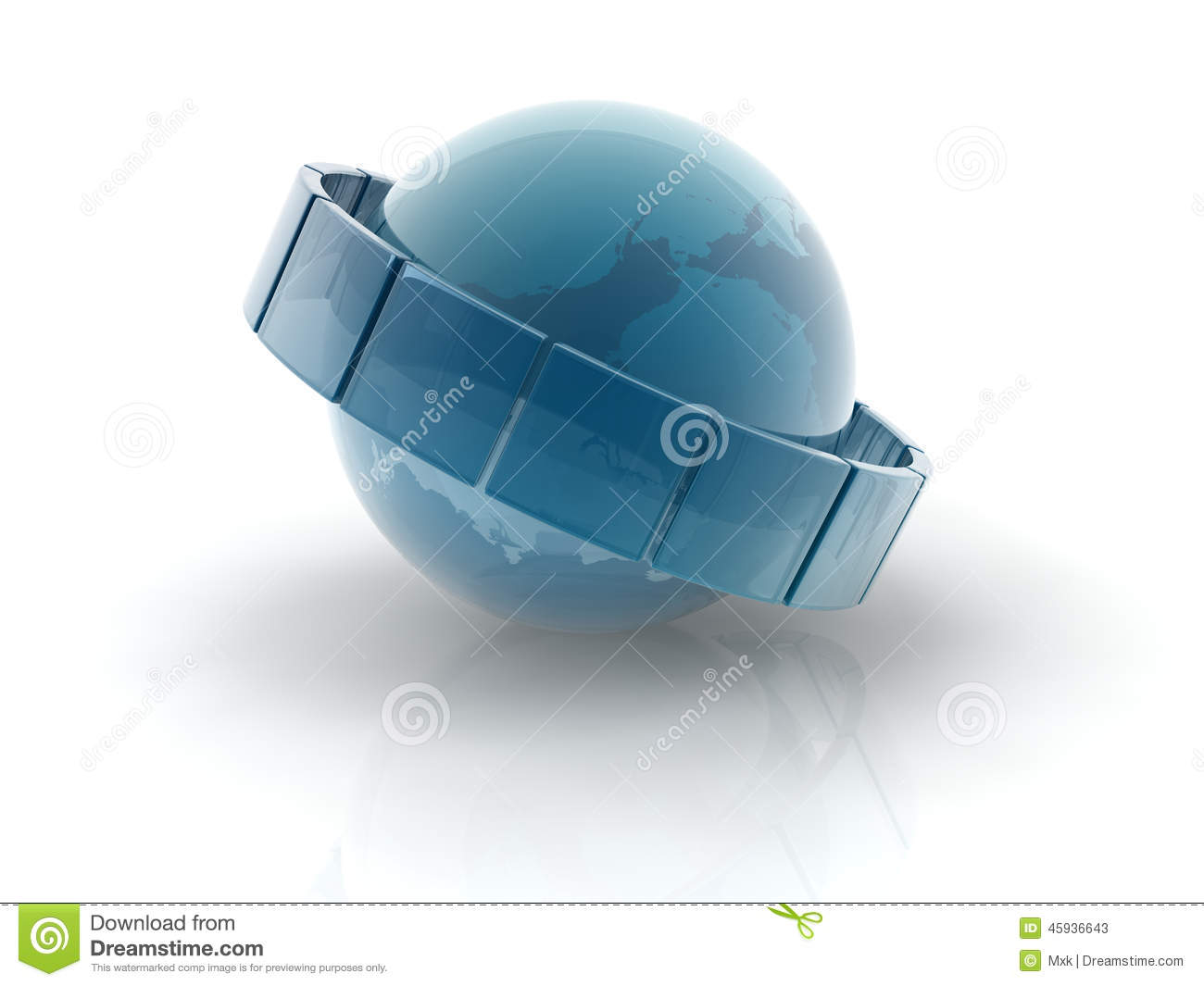 Glass earth sphere