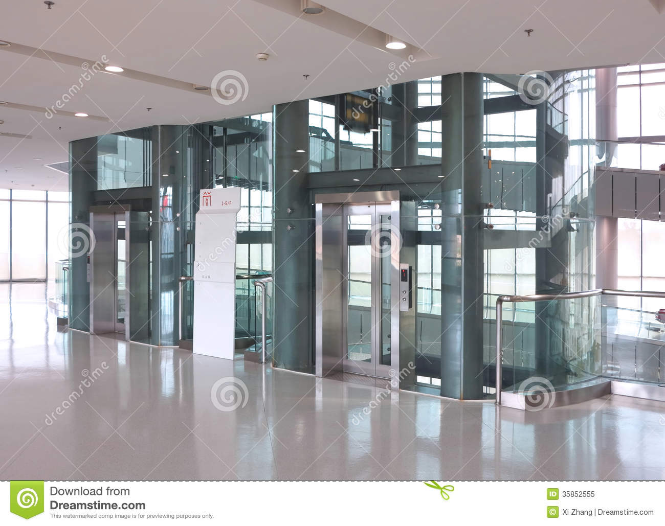 Glass Elevator Stock Image Image Of Exhibition People