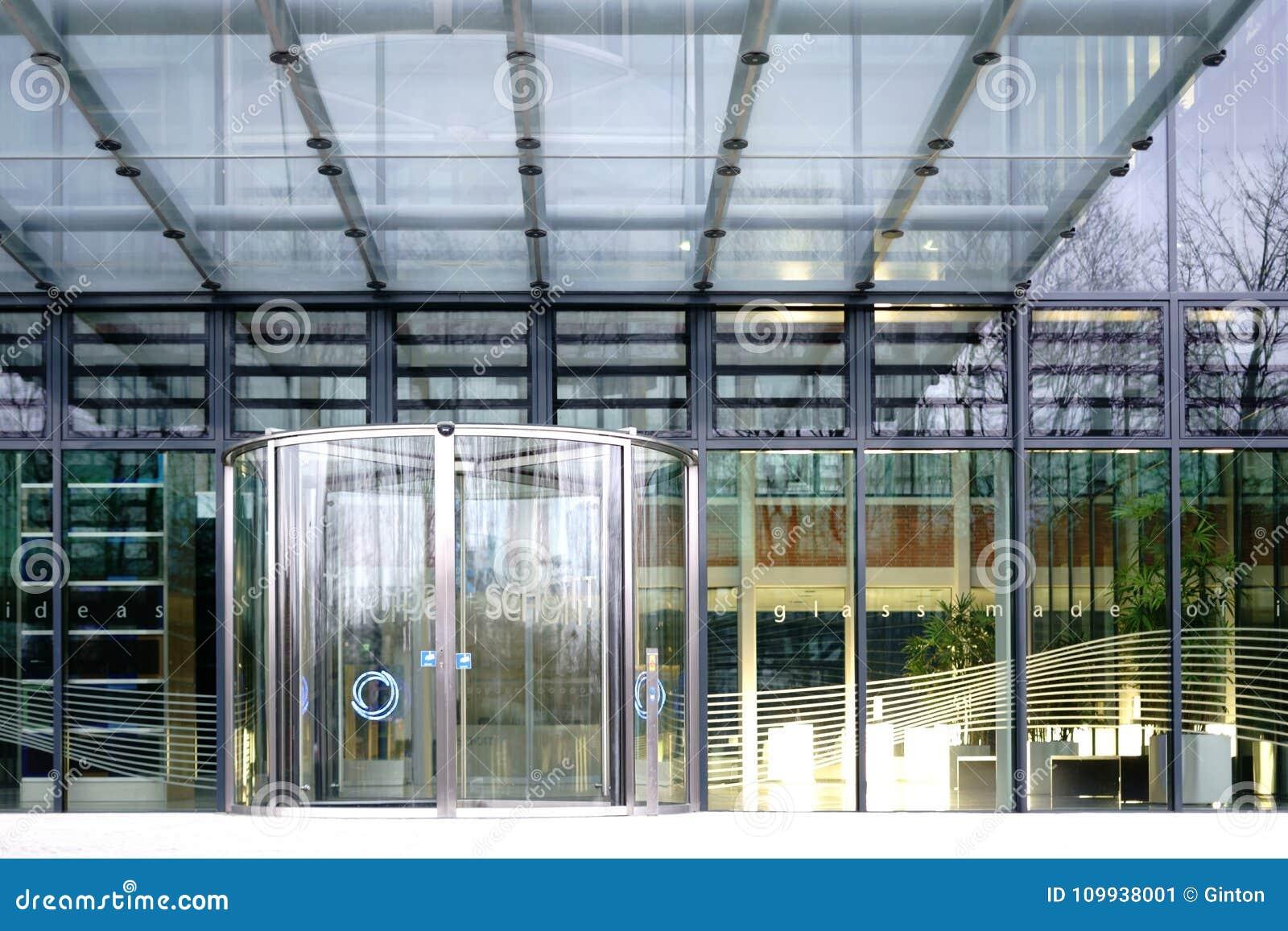 Glass Entrance Schott Ag Mainz Editorial Photo Image Of Schott