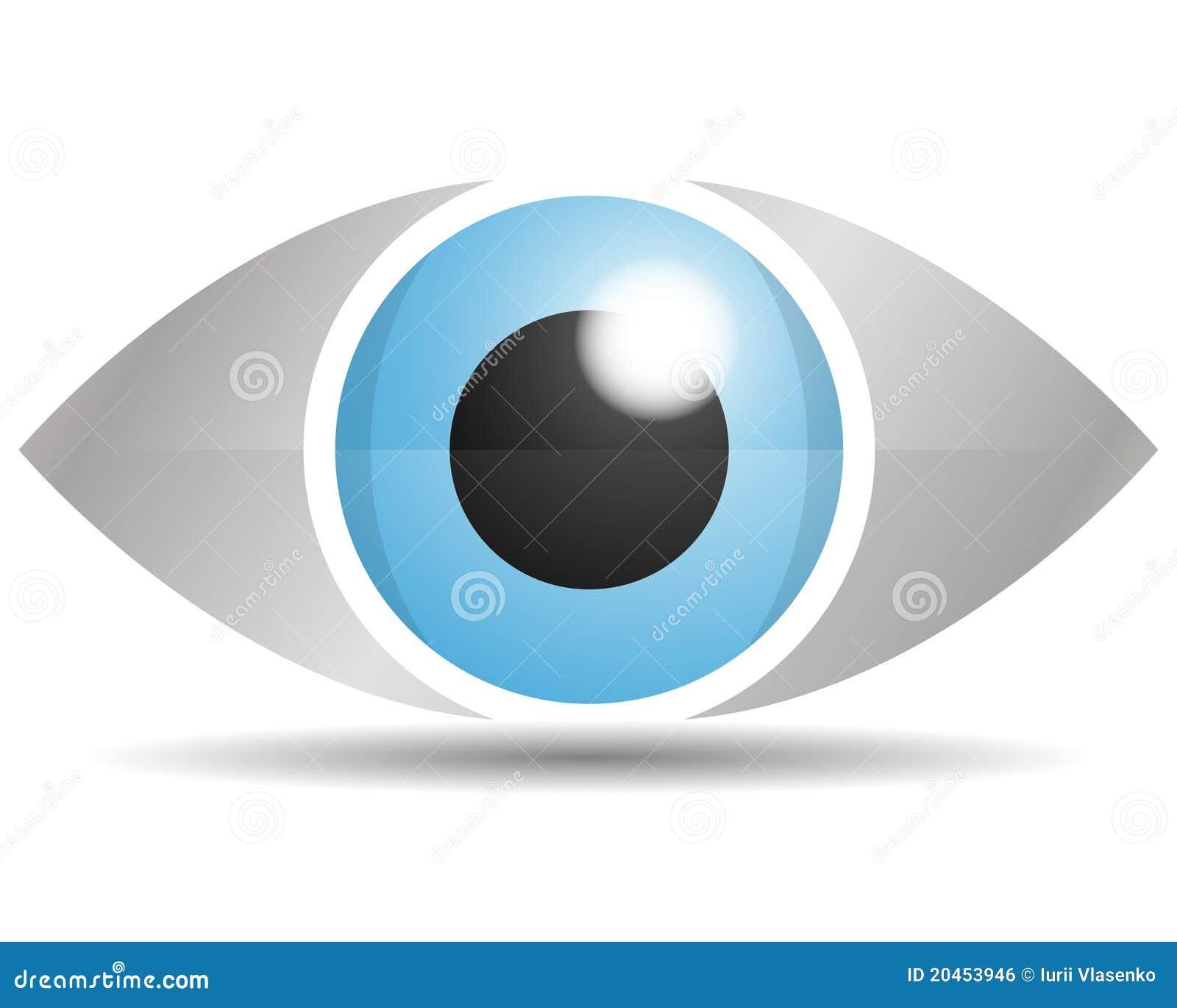 Travel Logo Set: Glass Eye Logo Royalty Free Stock Image