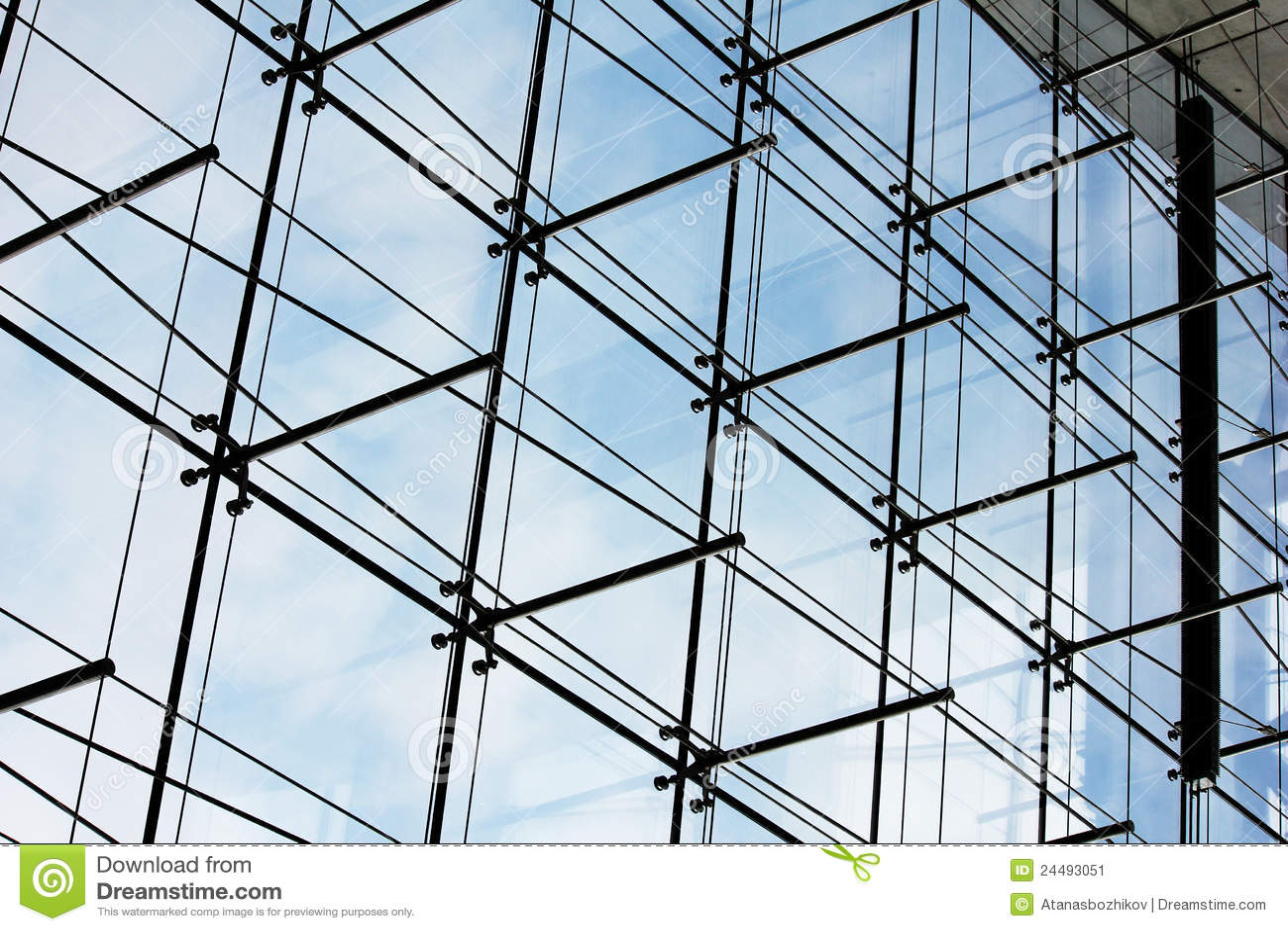 Glass Facade Detail : Glass facade architectural detail stock image