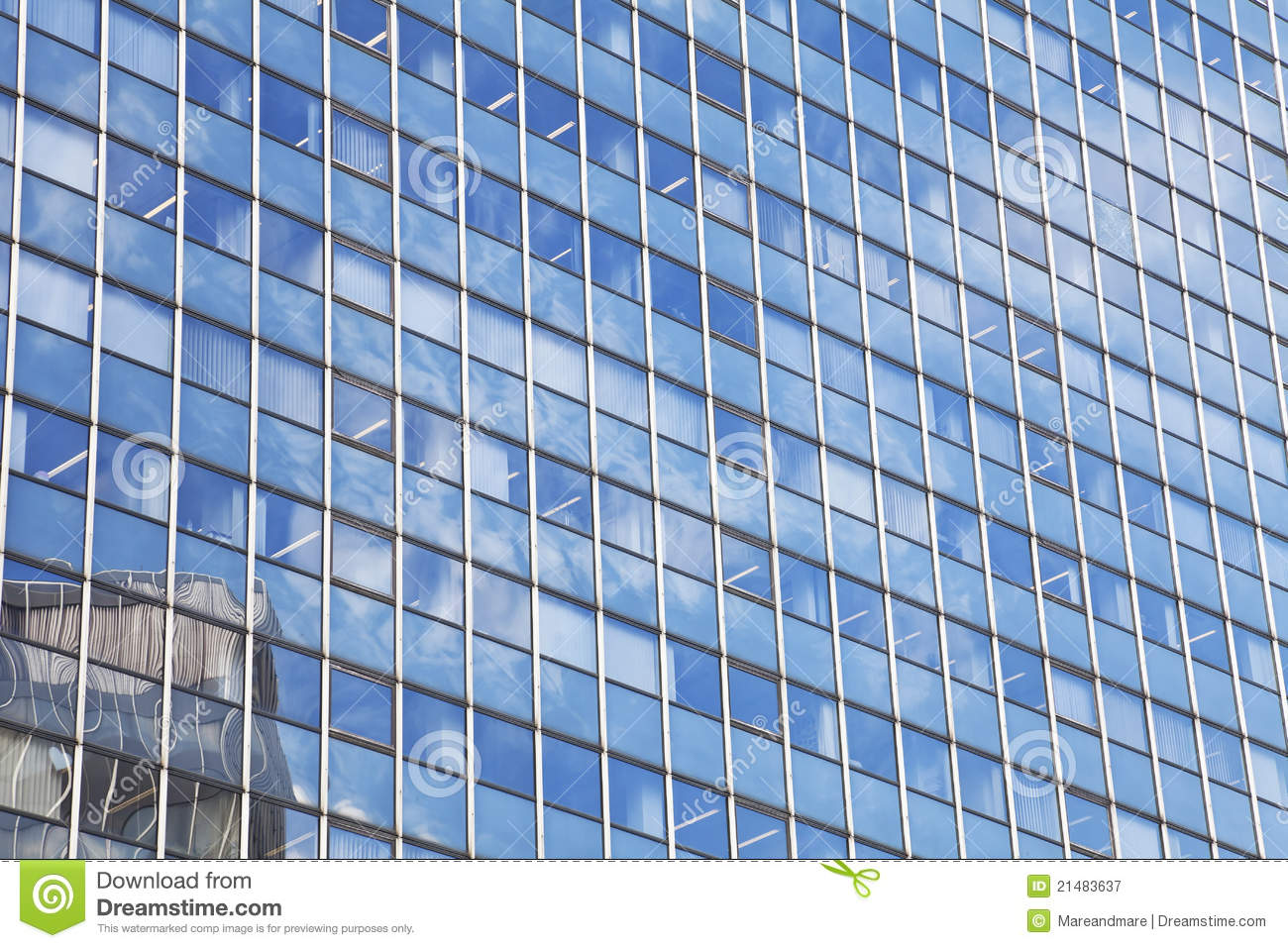Glass Facade Of Office Building Royalty Free Stock Image: Glass Facade Of The Building Royalty Free Stock
