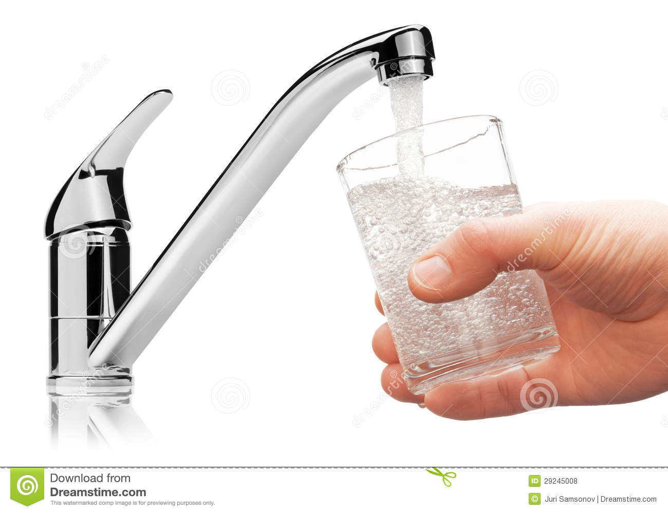 Drinking Water Faucet >> Glass Filled With Drinking Water From Tap. Royalty Free ...