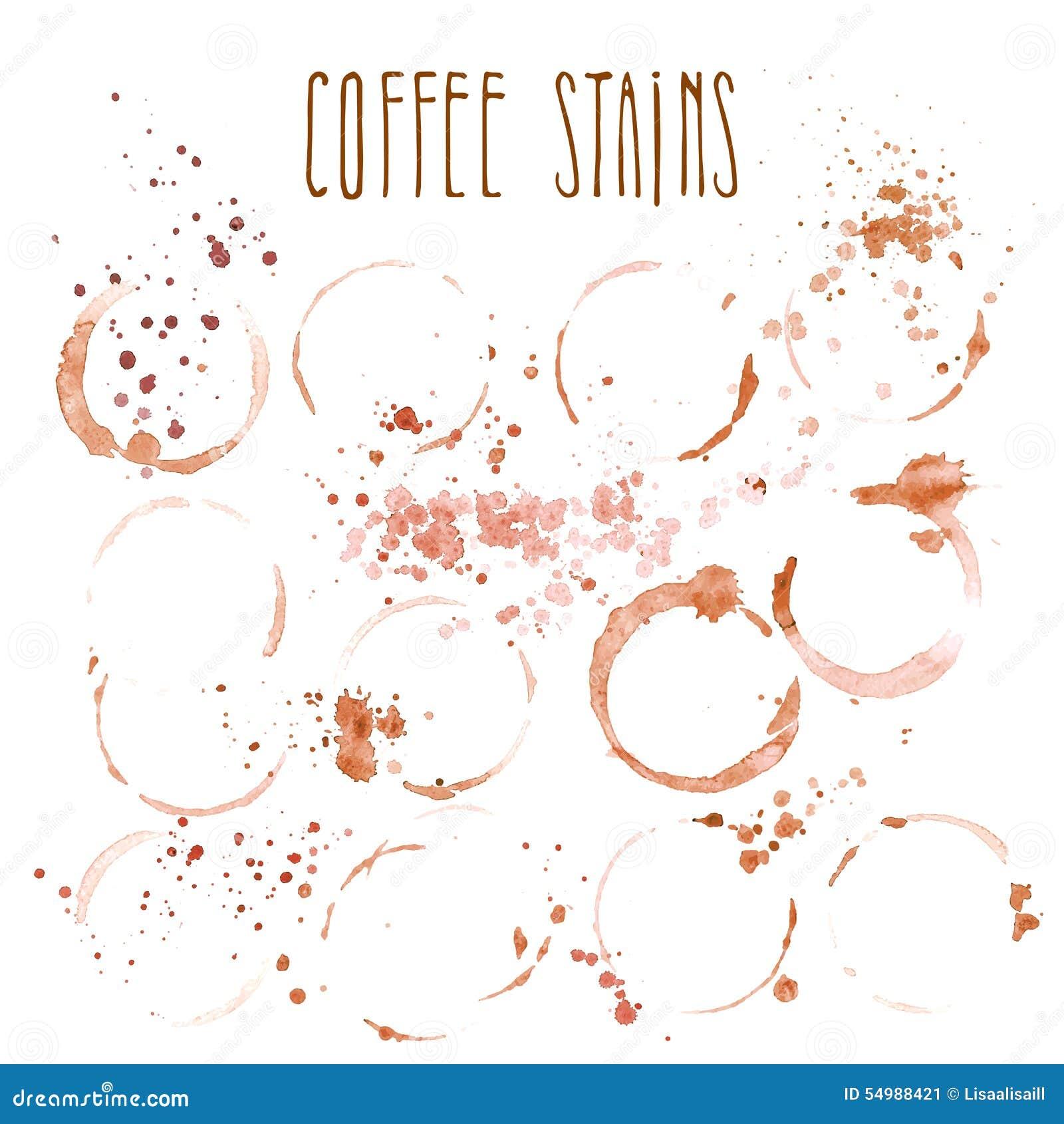 Glass fläck för kaffe som isoleras på vit bakgrund