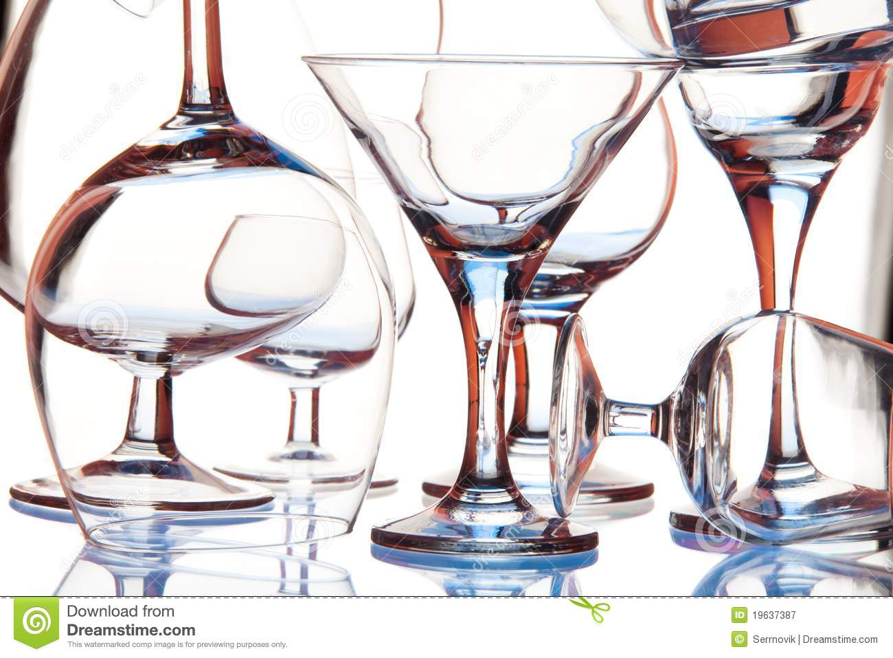 Glass Forms Royalty Free Stock Photography - Image: 19637387