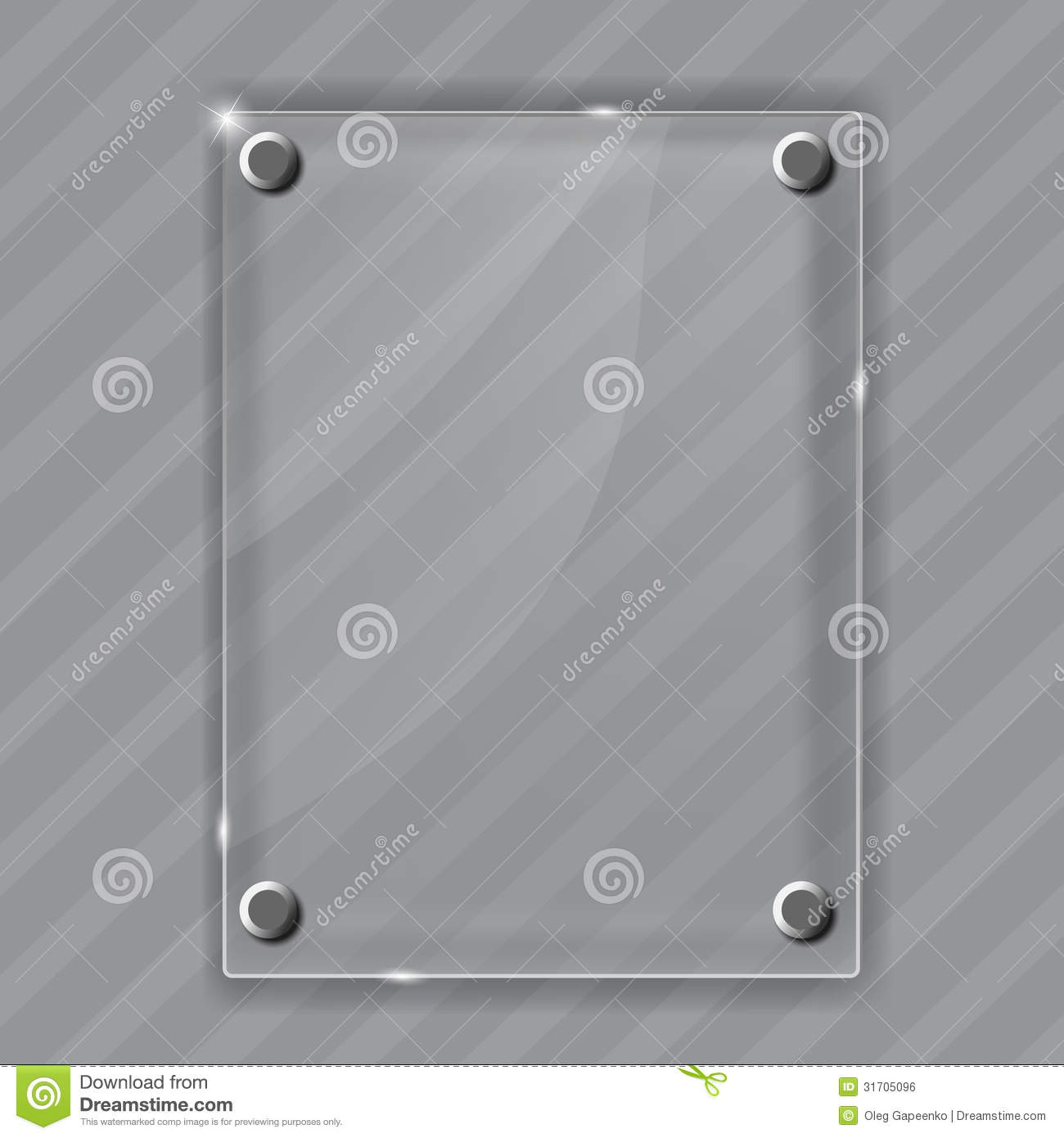 glass frame on abstract metal background vector
