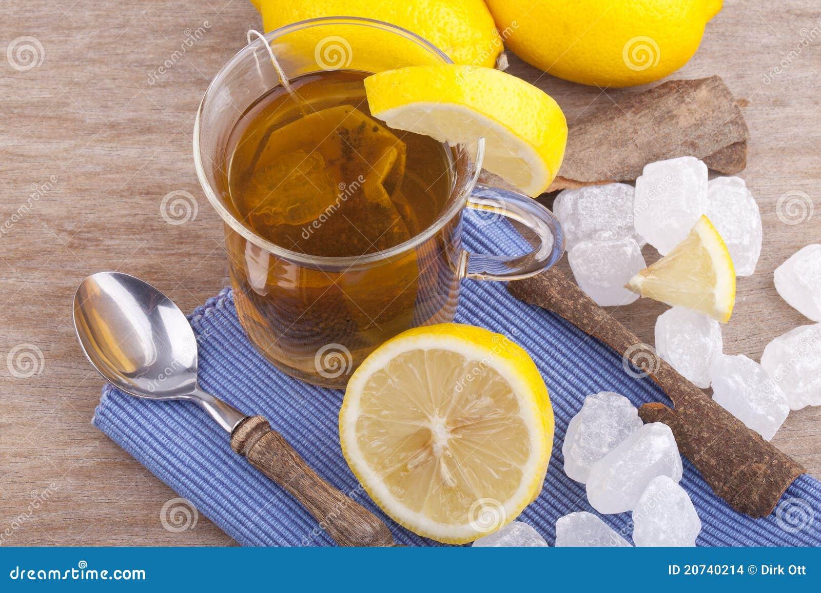 how to make hot lemon tea