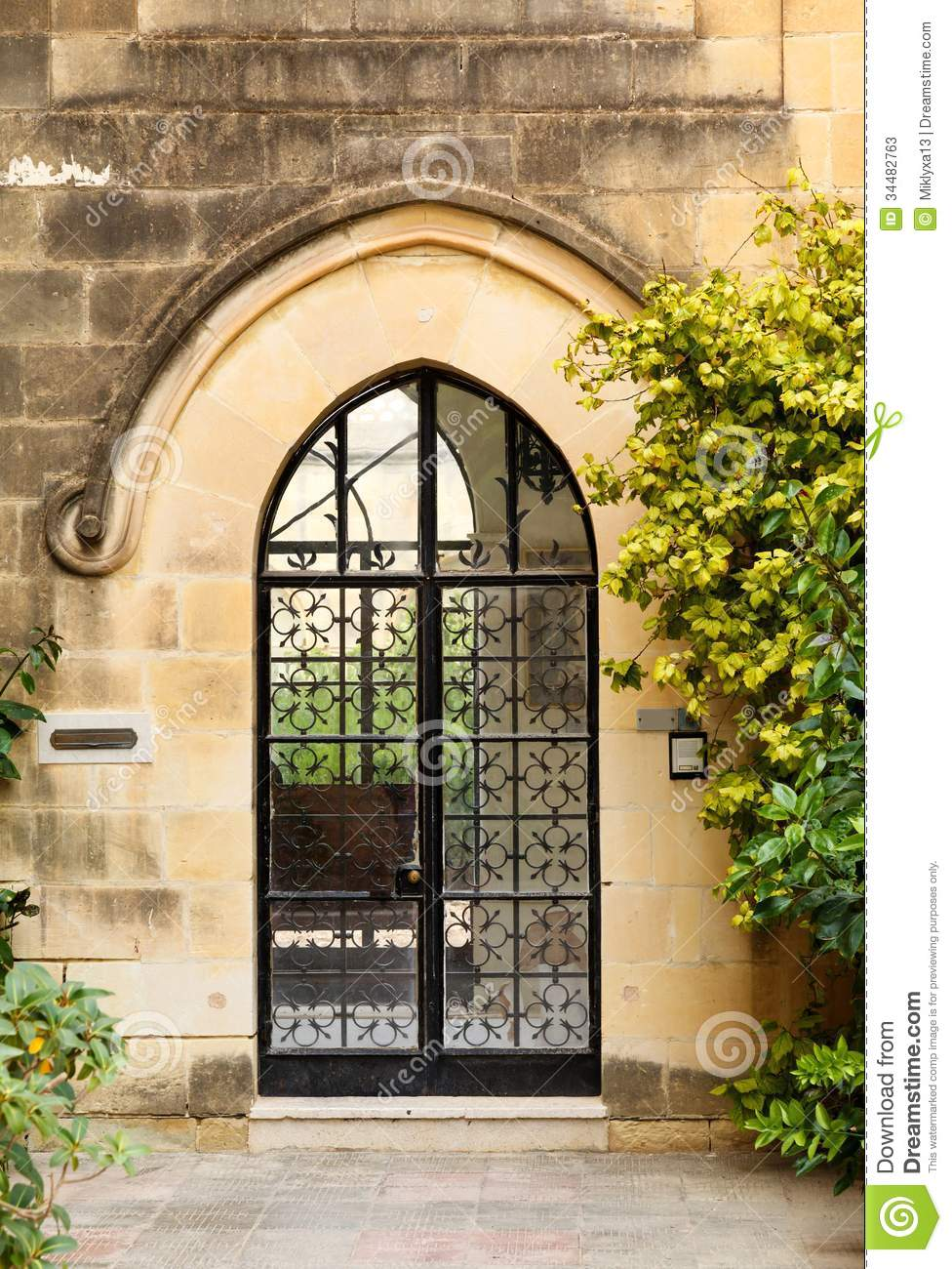 Glass Front Door To The House Stock Photos Image 34482763