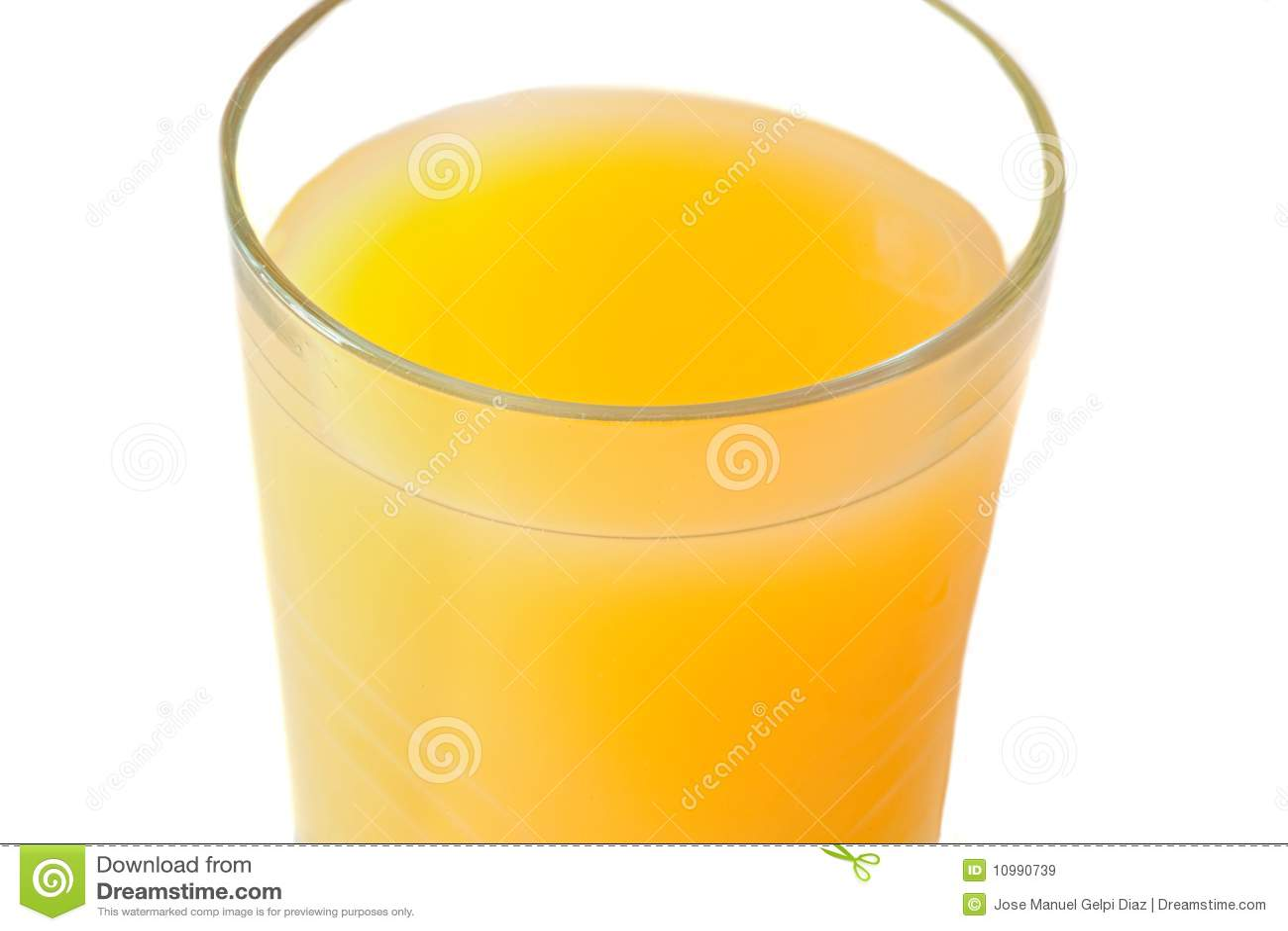 Glass fruktsaftorange