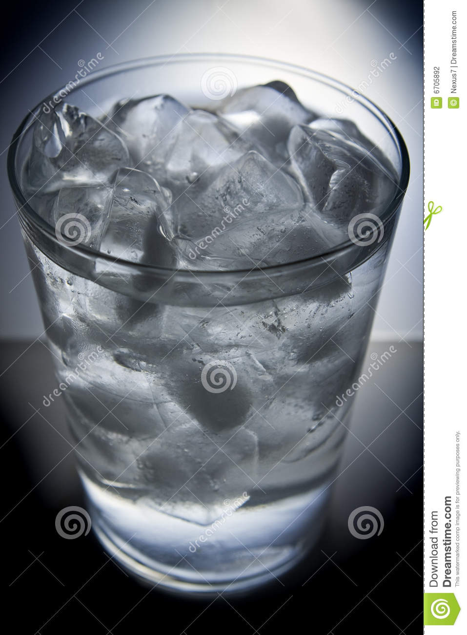 Drinking Ice Cold Water