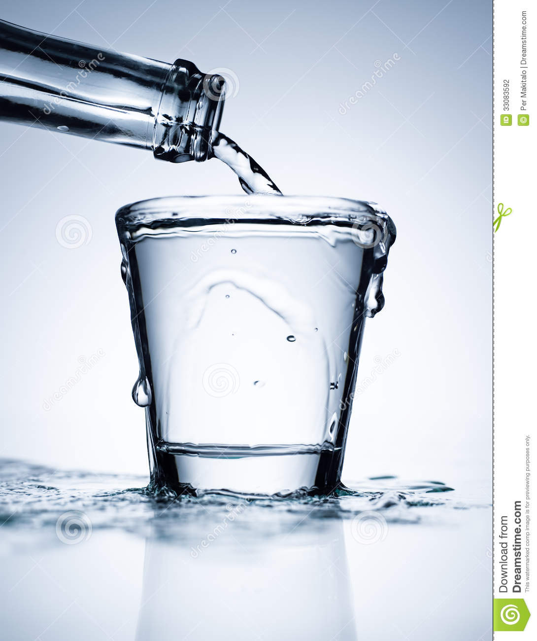 Http Www Dreamstime Com Stock Photography Glass Full Water Pouring Bottle Image33083592