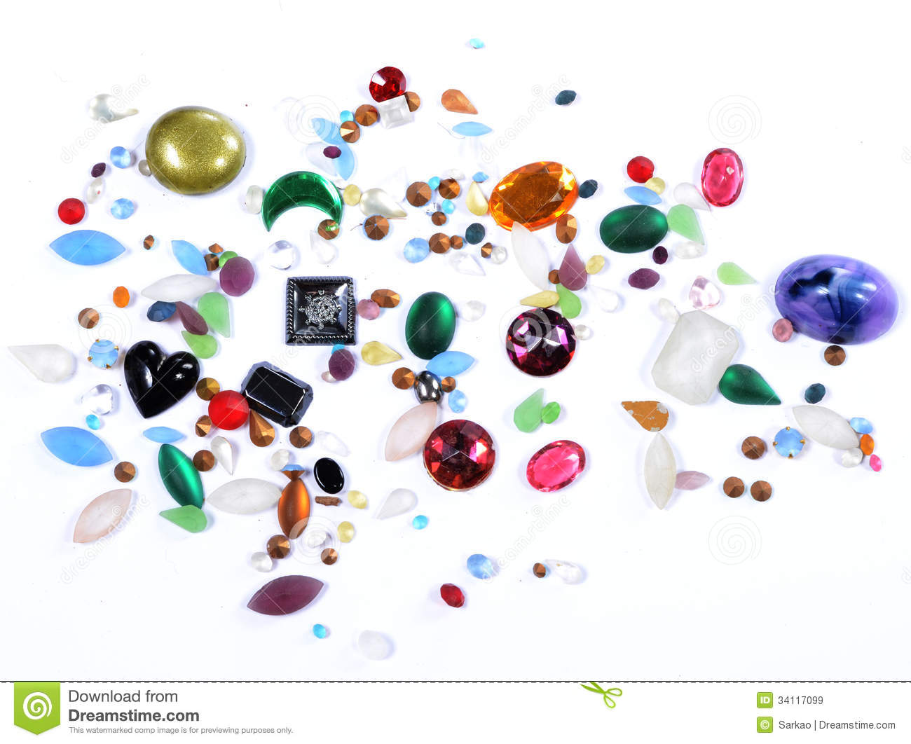 glass gems for crafts royalty free stock images image