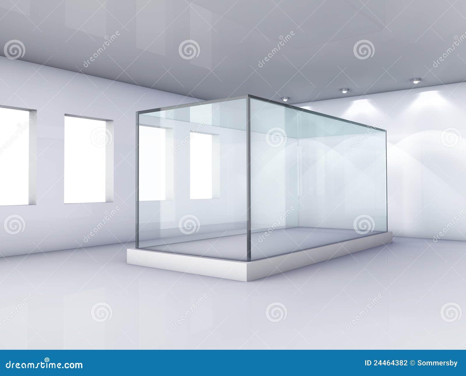 Glass grå lokal ställer ut fönster