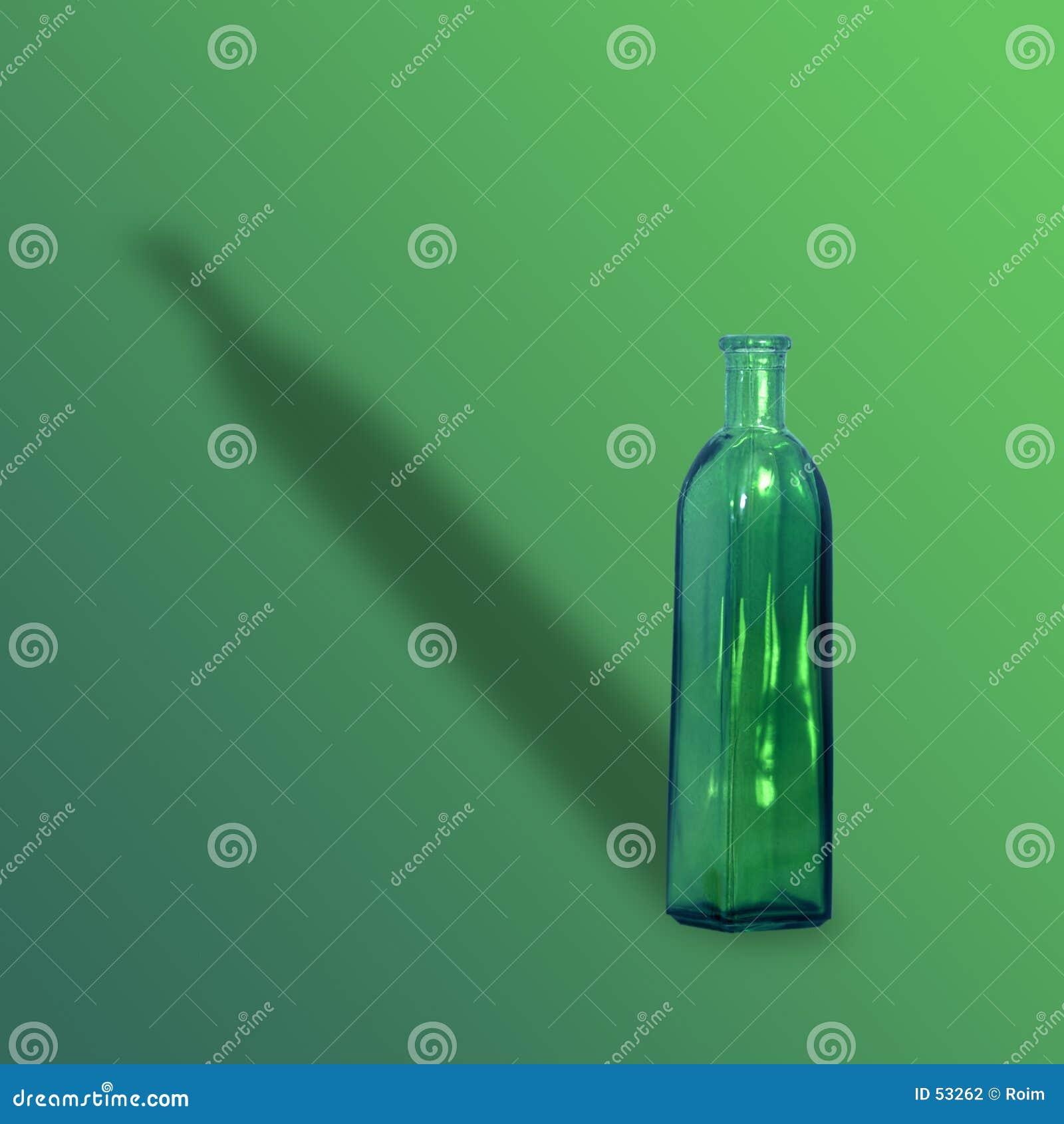 Glass grön vase