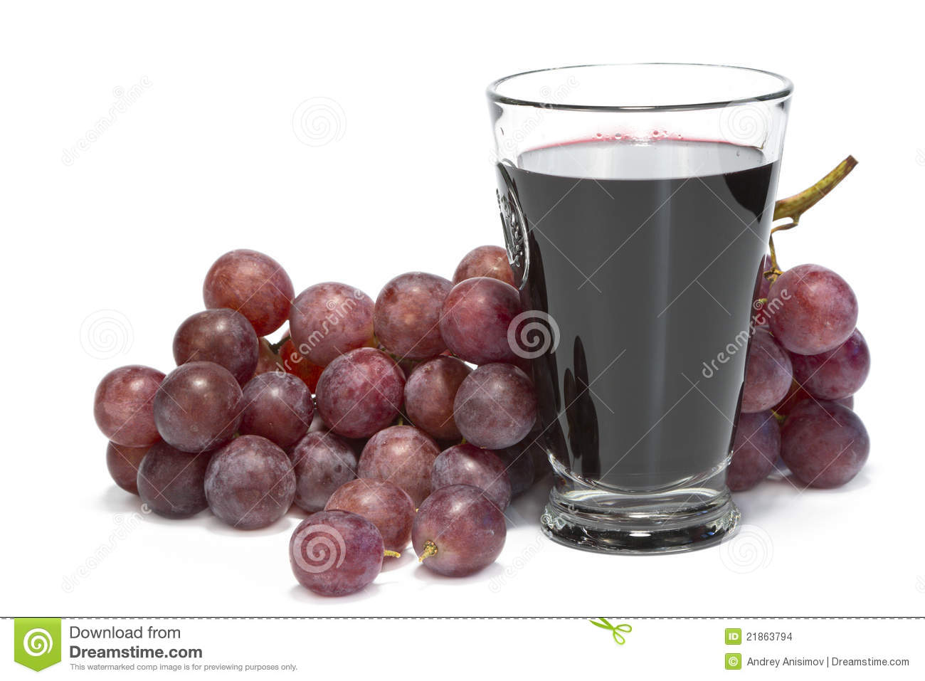 A Glass Of Grape Juice And Bunch Of Grapes. Stock Images ...