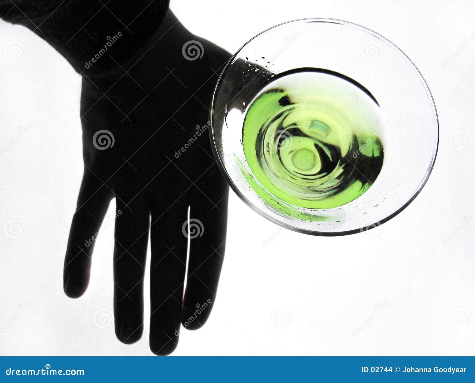 Glass handholding martini