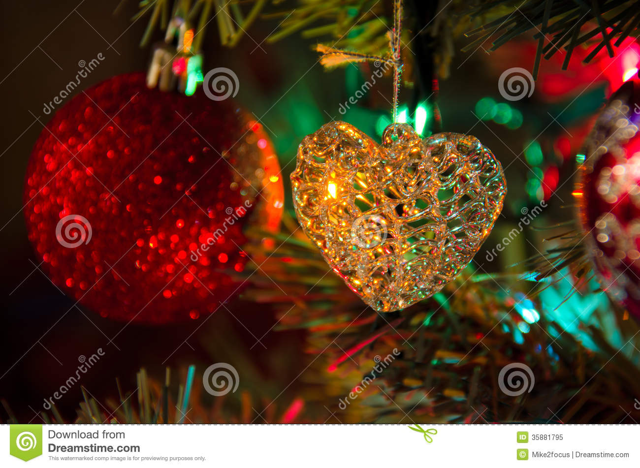 glass heart christmas tree decoration ornament