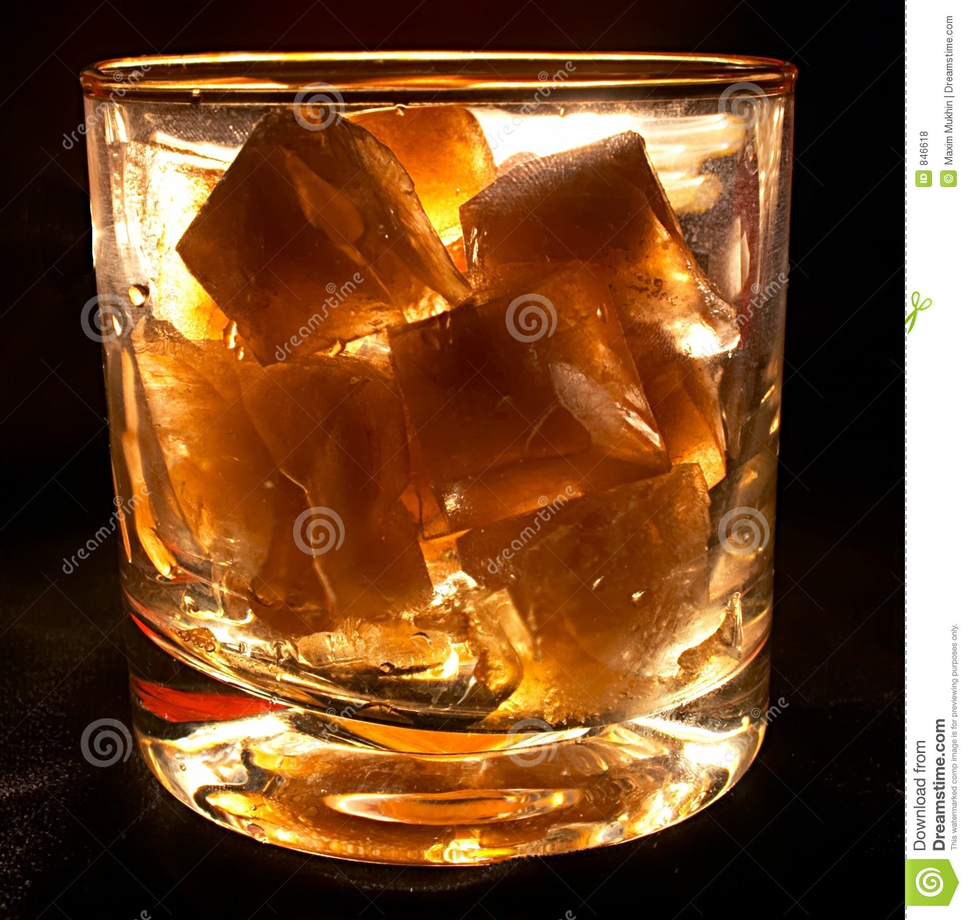 Glass with ice
