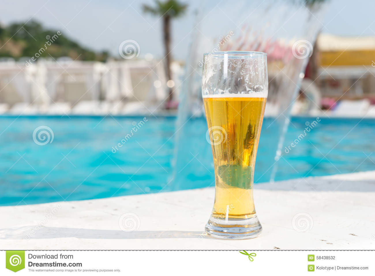 Edge Of A Glass With A Drink Royalty Free Stock Image 37179844
