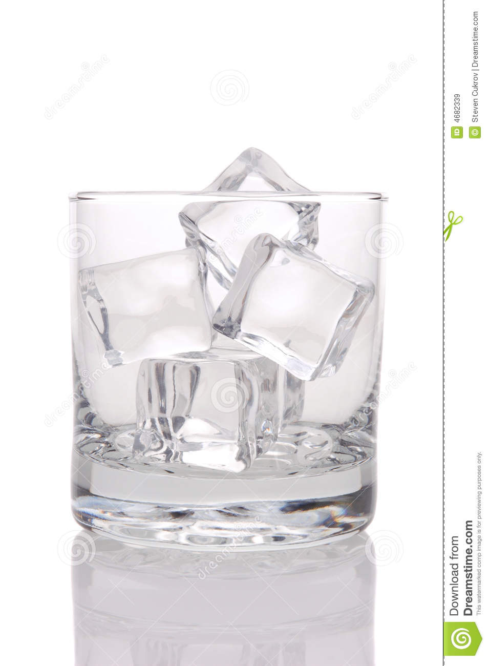 Glass Of Ice Cubes Royalty Free Stock Images - Image: 4682339
