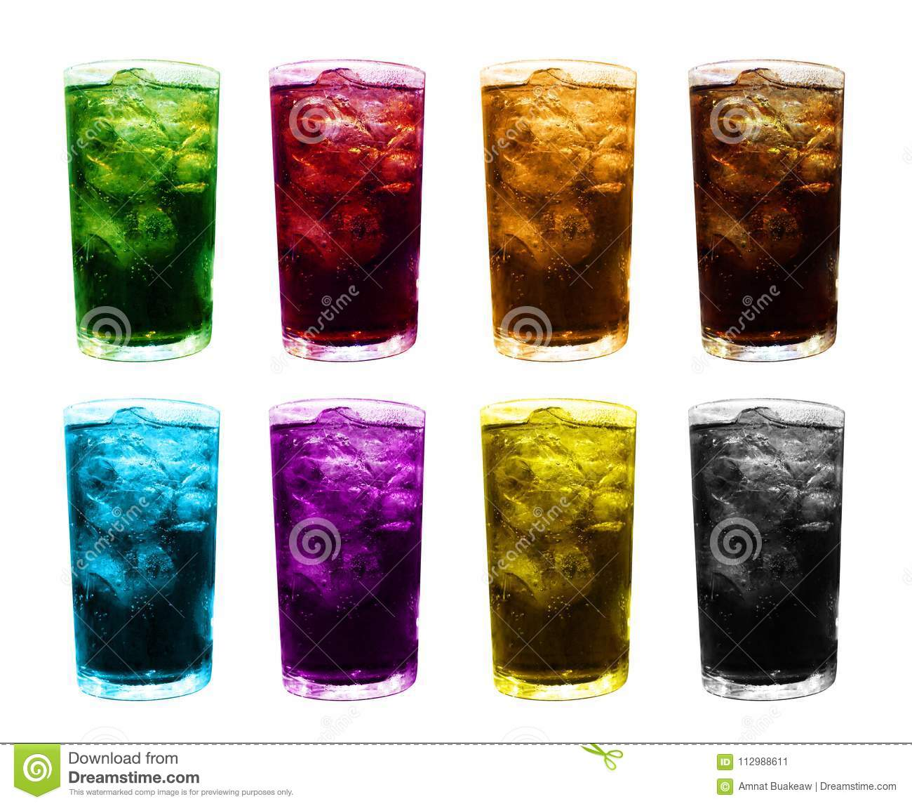 Ice glass water multi color, fruit juice colorful mixed in ice glass, ice tea juice glass, water glasses sweet carbonated dri