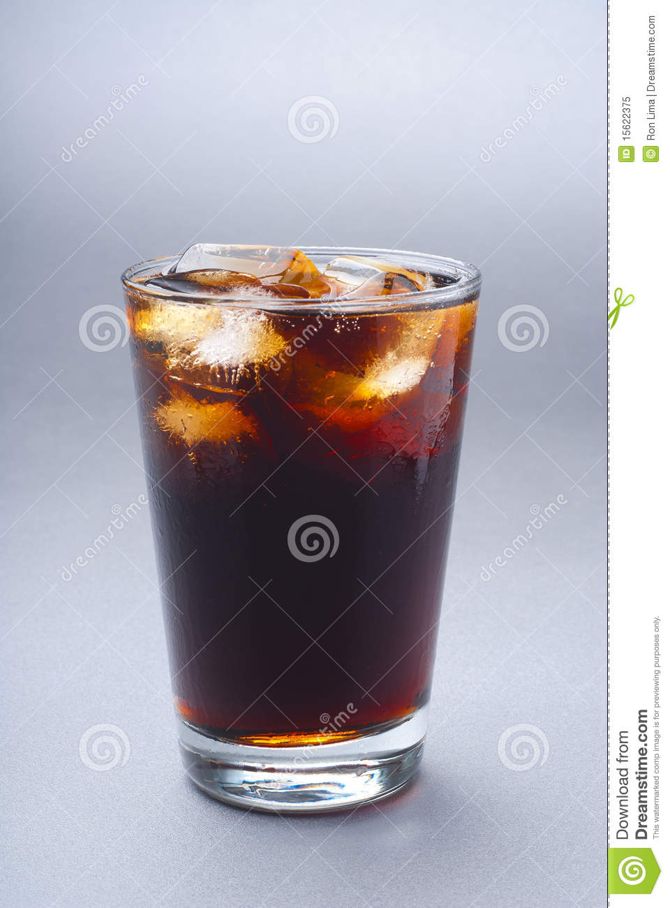 Glass of iced soda