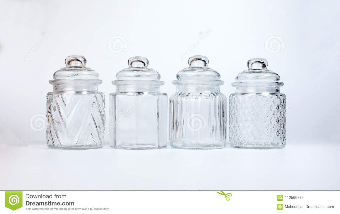 Decorative Clear Glass Jars With Lids  from thumbs.dreamstime.com