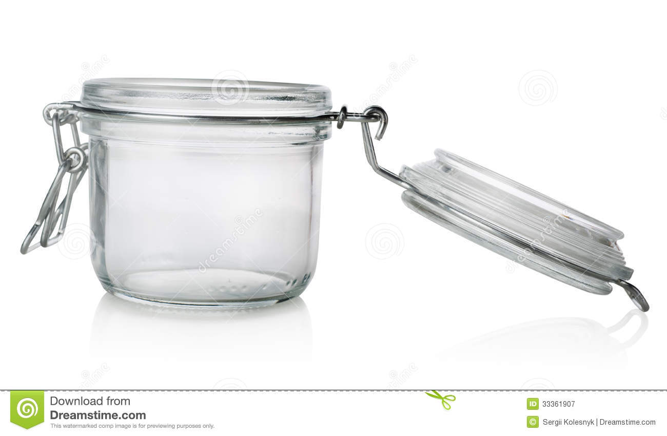 Glass jar with lid stock image  Image of glass, objects