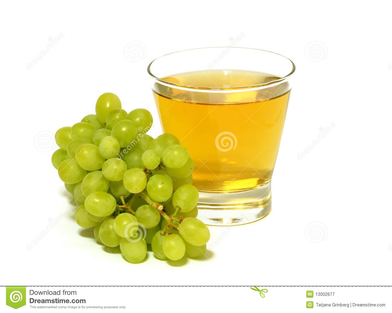 Glass Of Juice And Fresh Grapes Isolated On White Royalty ...