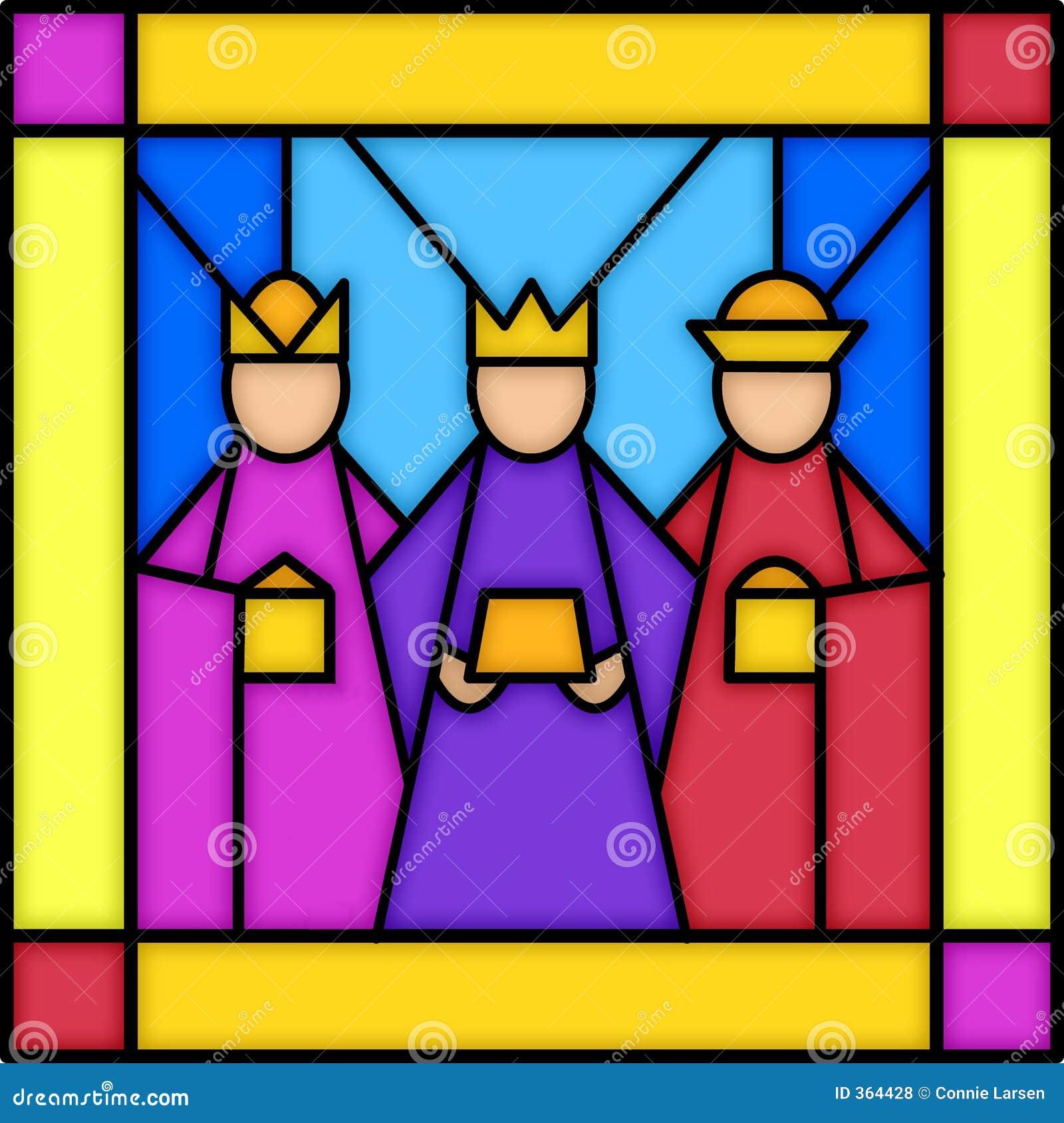 Glass konungar befläckte tre
