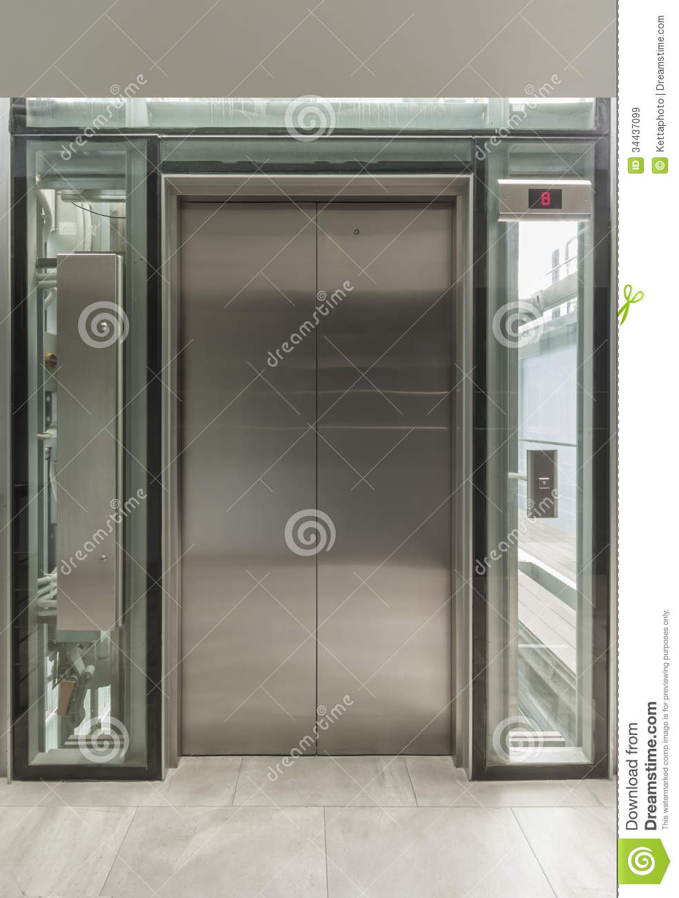 Glass Elevator Doors : Glass lift royalty free stock images image