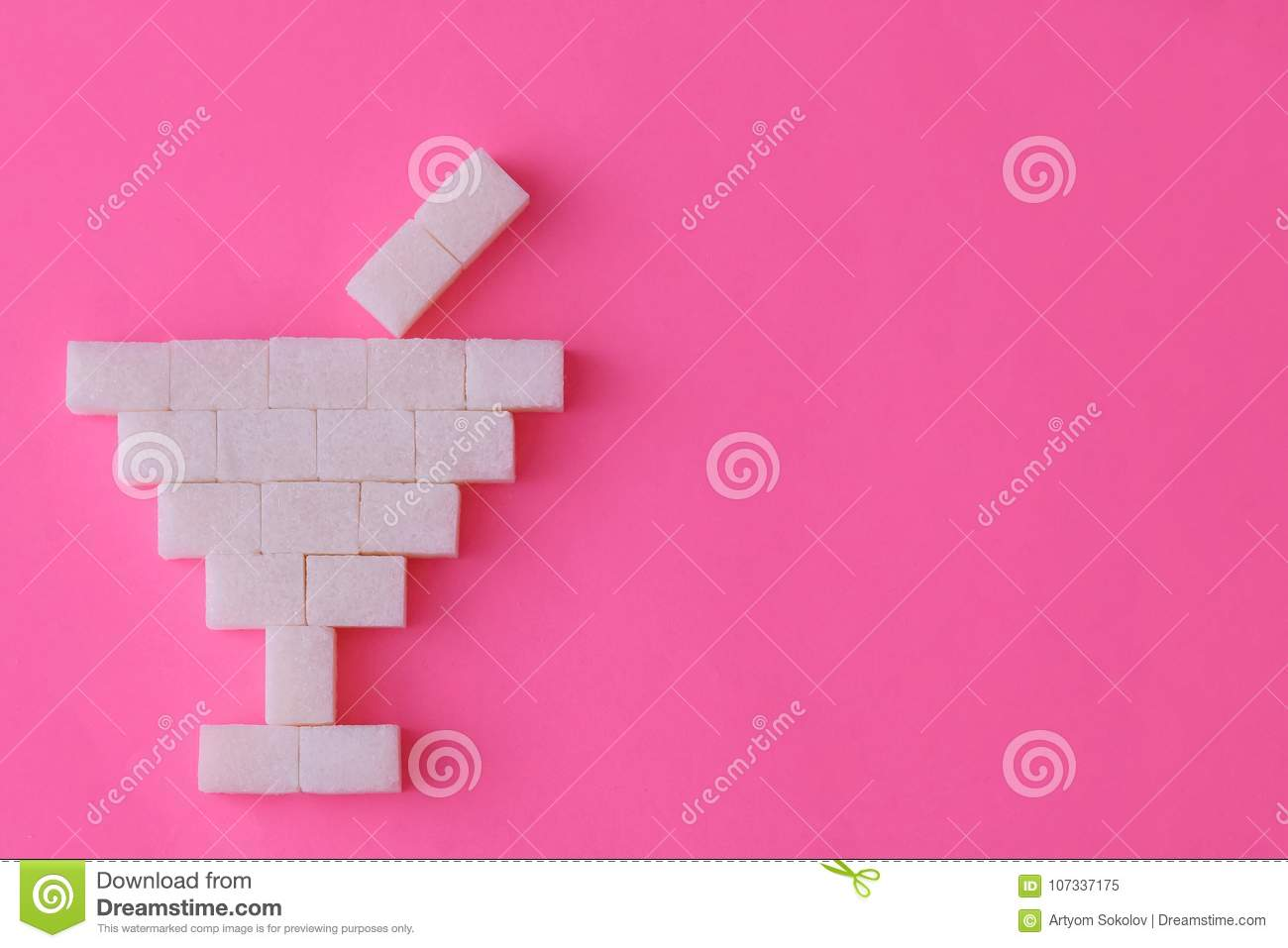 A Glass Is Made From Cubes Of Sugar Stock Image Image Of Concept