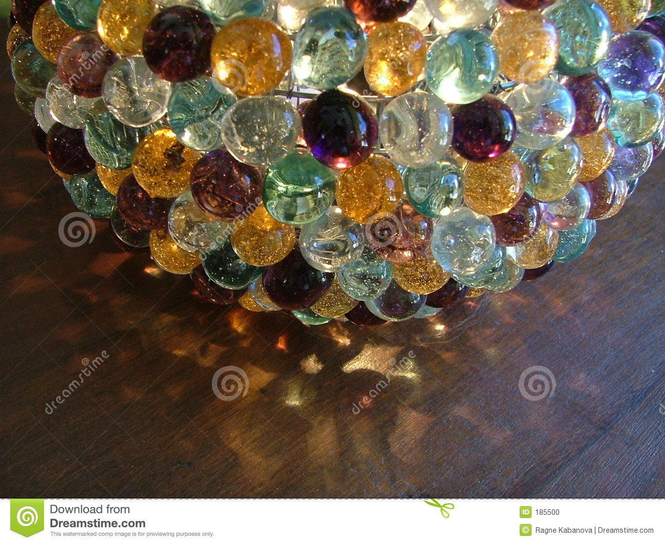 Glass Marble Lamp Stock Photo Image Of Yellow Lamp