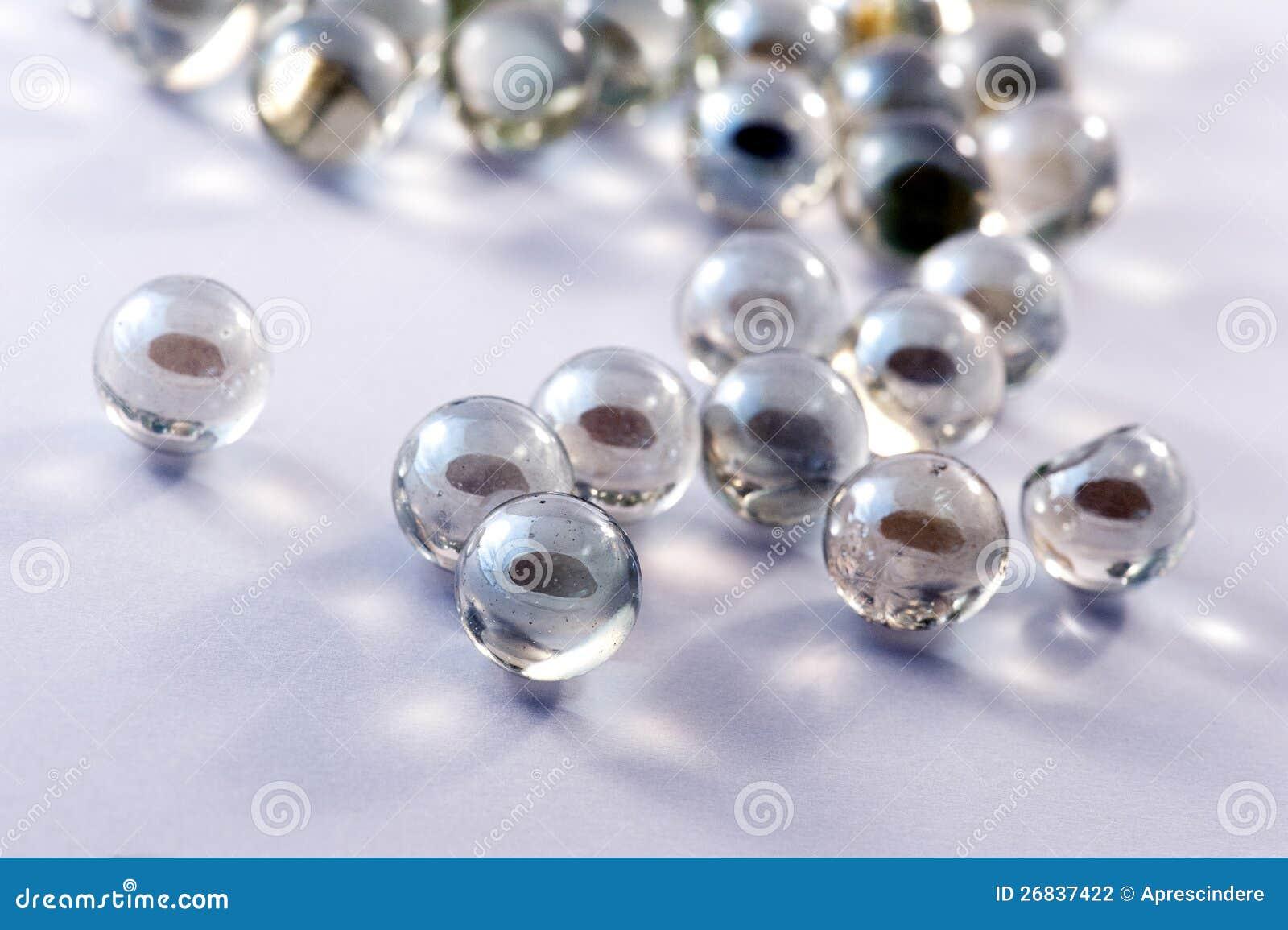 Glass marbles balls
