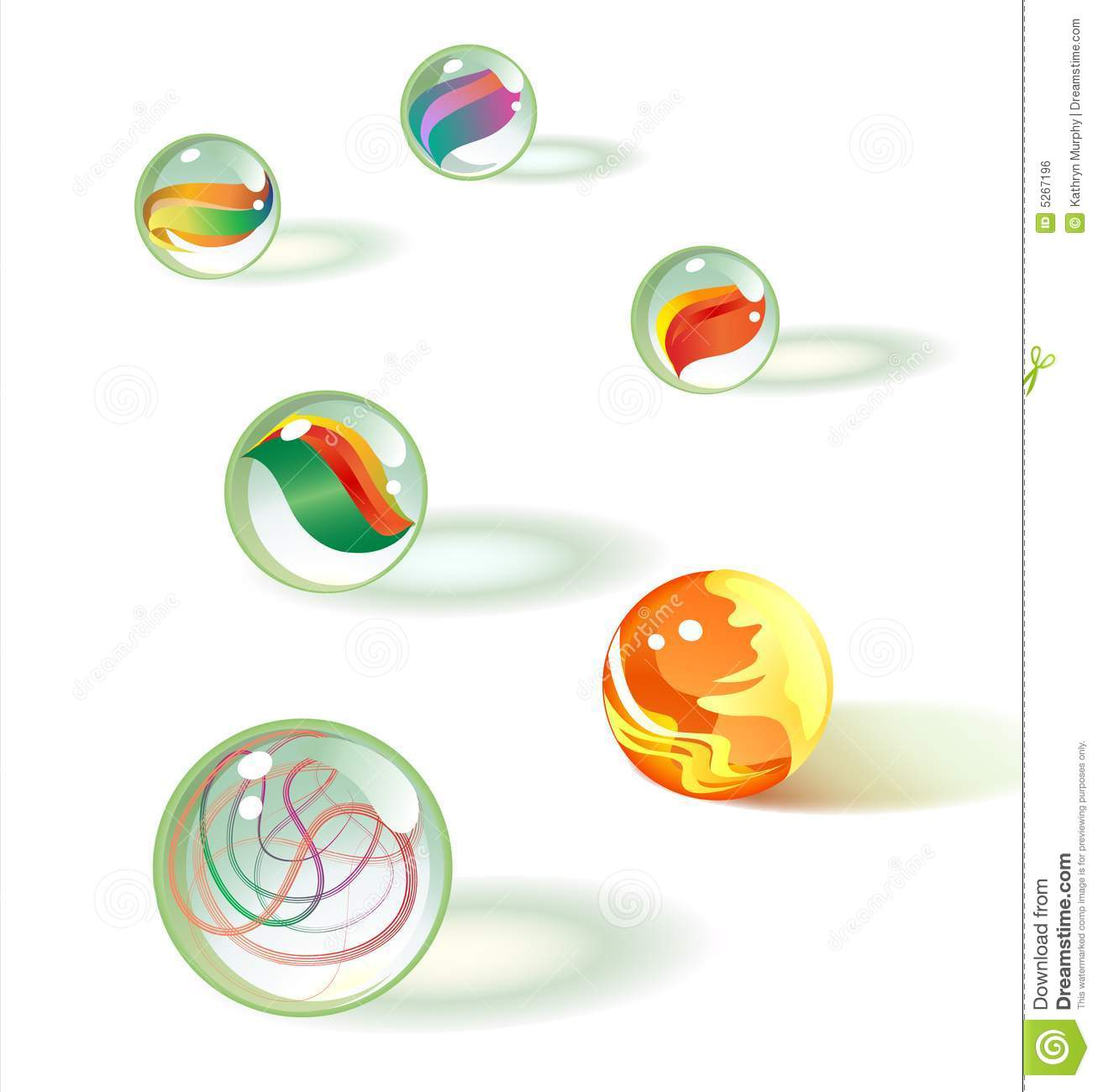 Glass marbles set 2