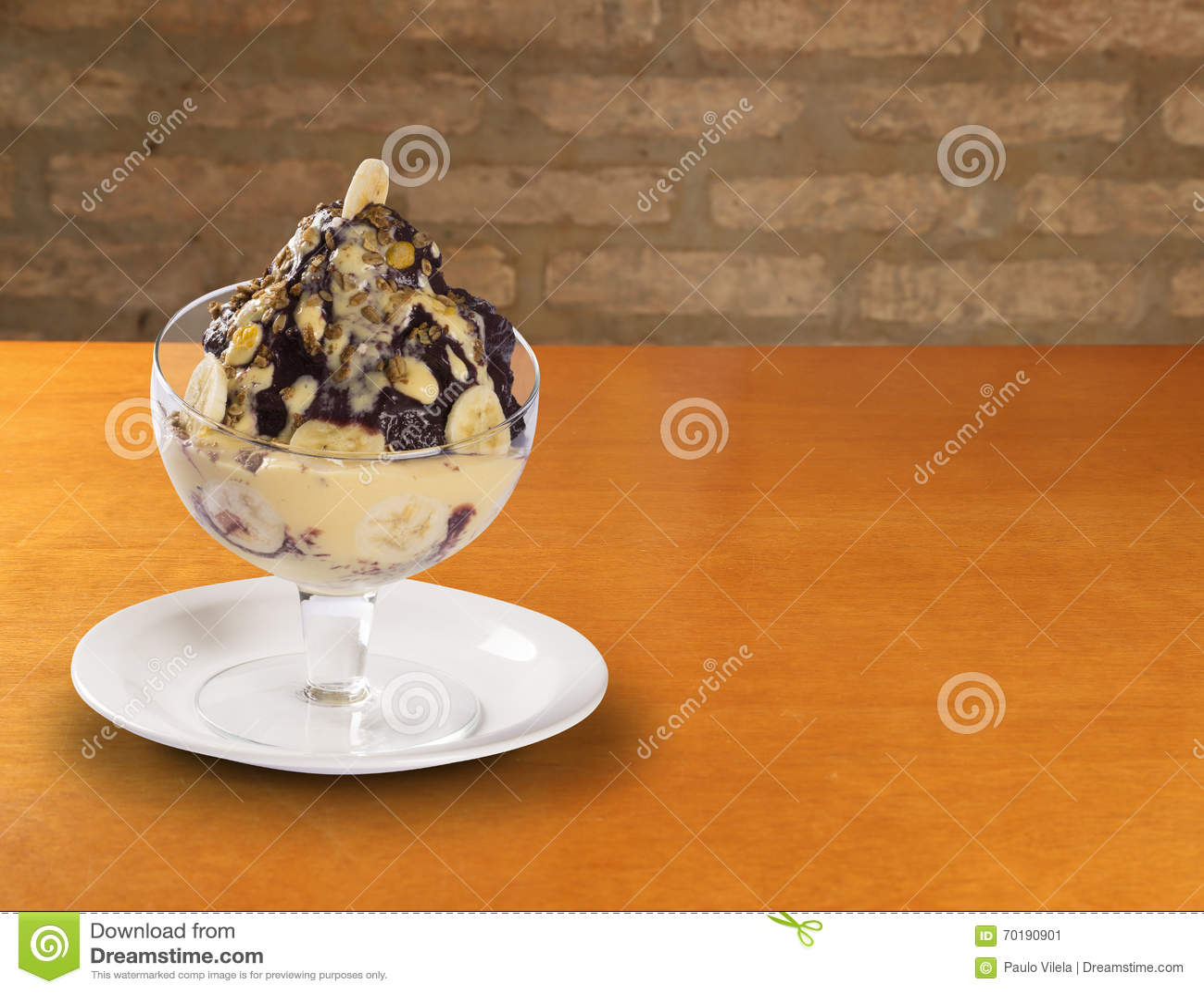 Glass med choklad