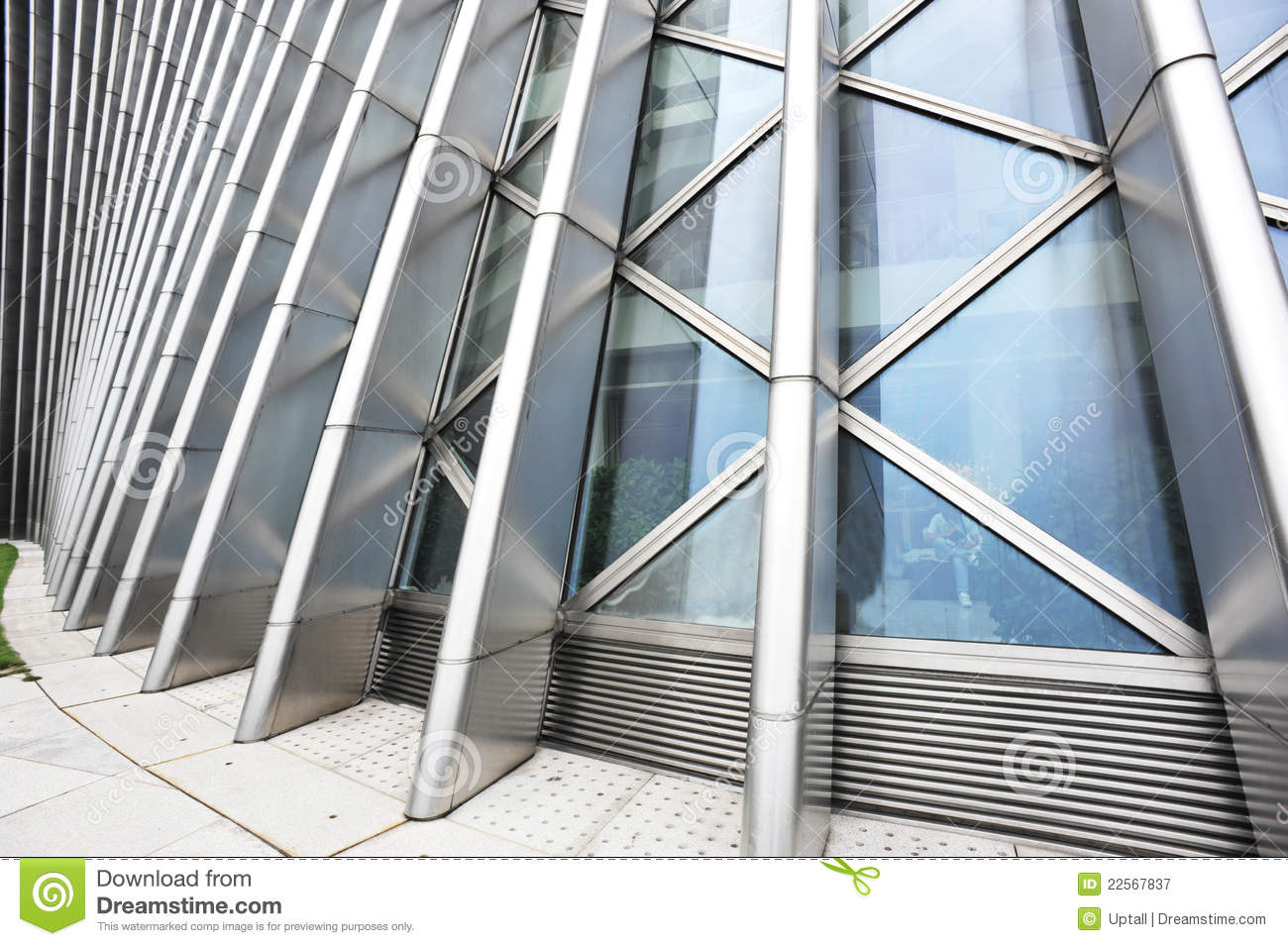 Glass And Metal Architecture Royalty Free Stock