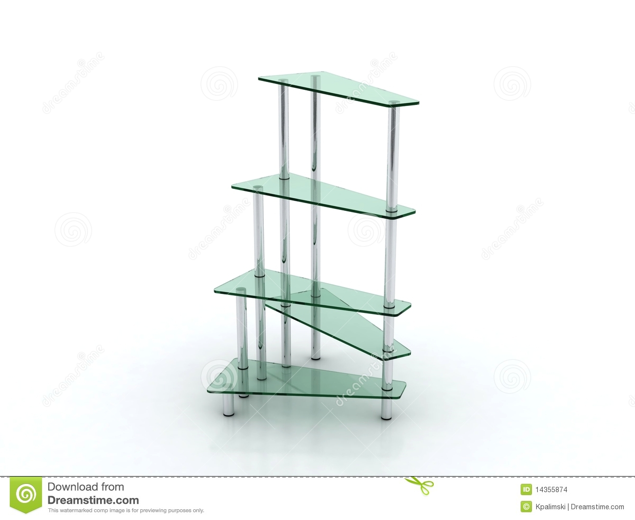 Glass And Metal Shelves Furniture Design Stock Illustration ...