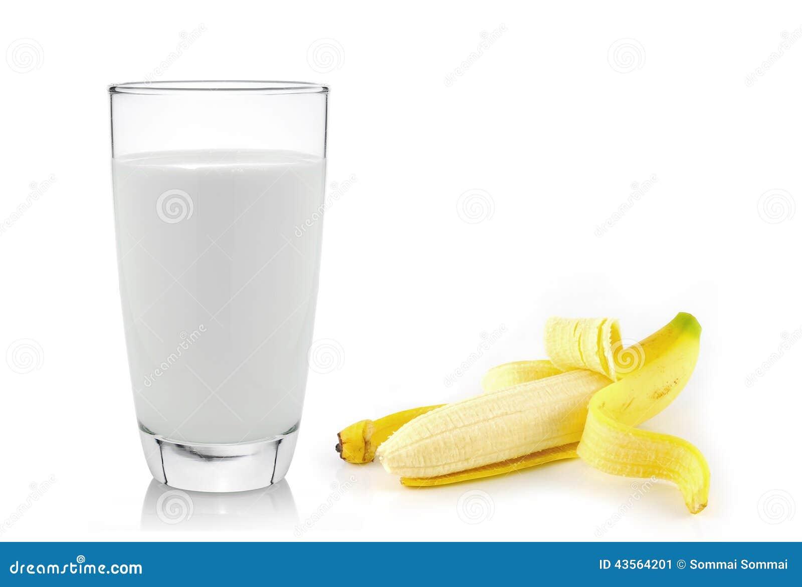 glass of milk with banana over white background stock banana clip art by panda banana clip art transparent