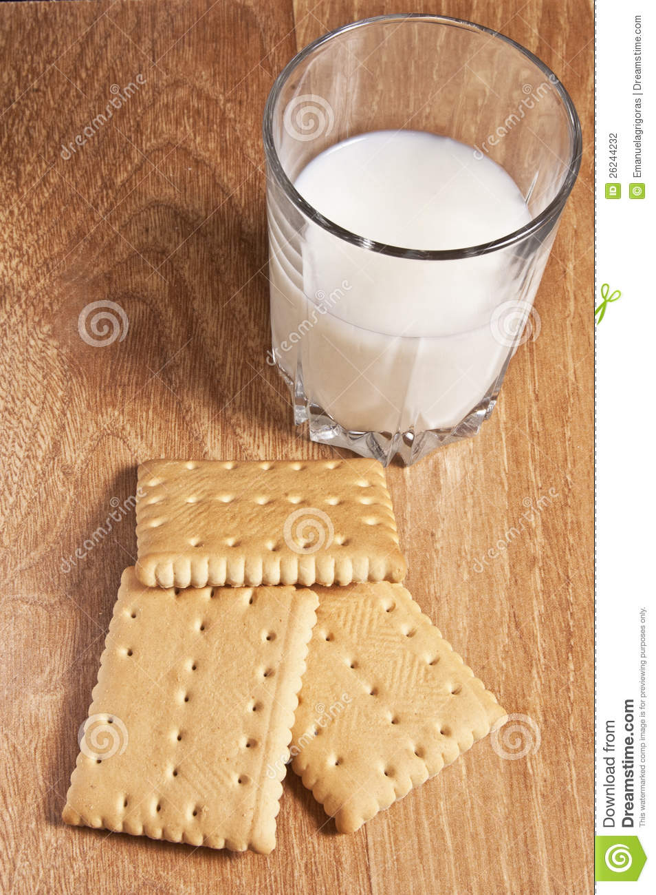 Glass Of Milk With Biscuits Stock Photography Image