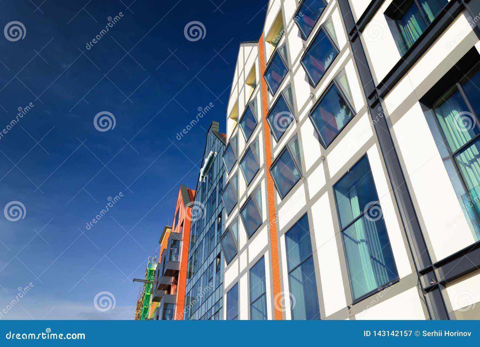 Glass modern building in Gdansk, Poland