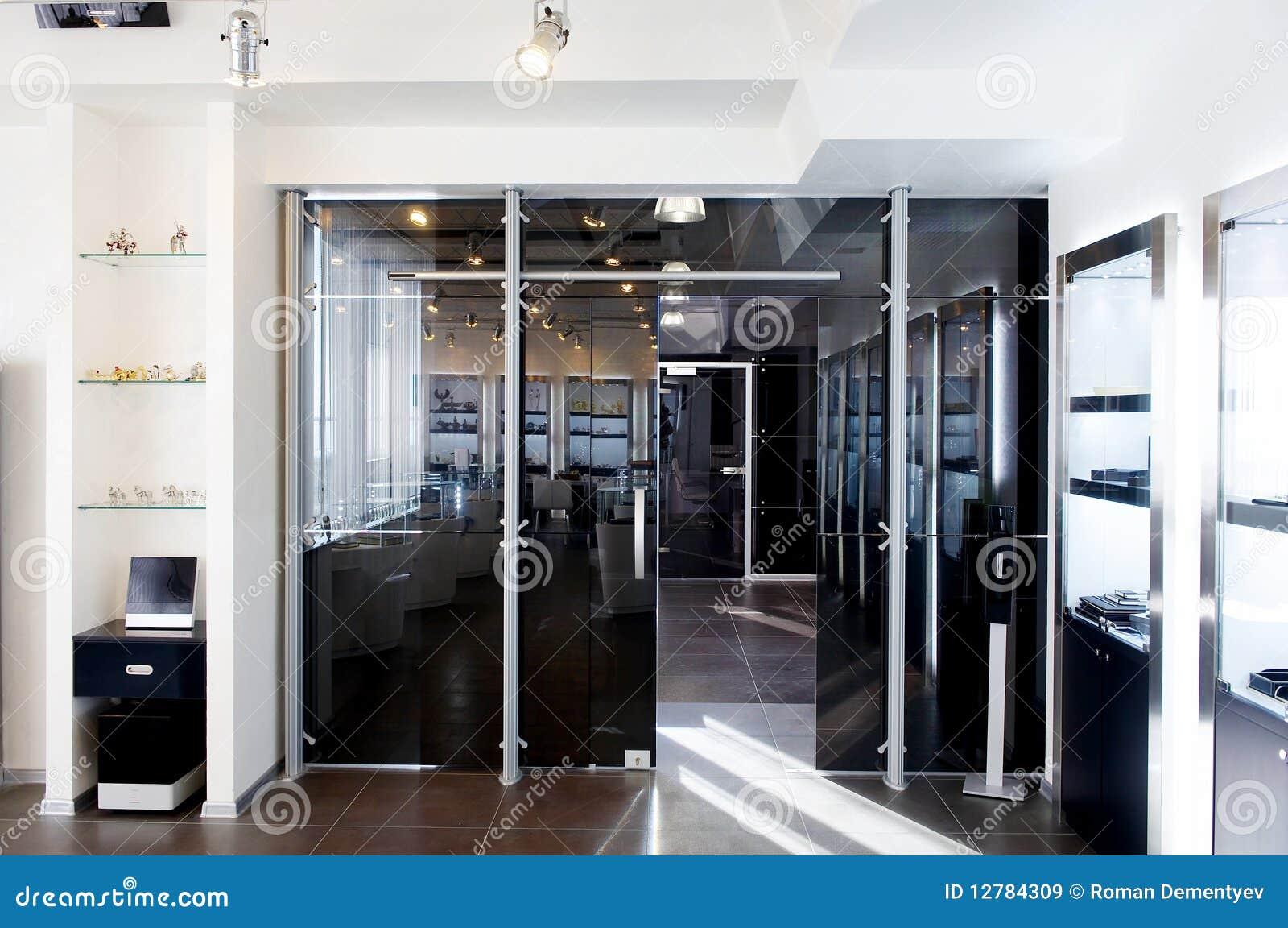 Glass nytt kontor för dörrar