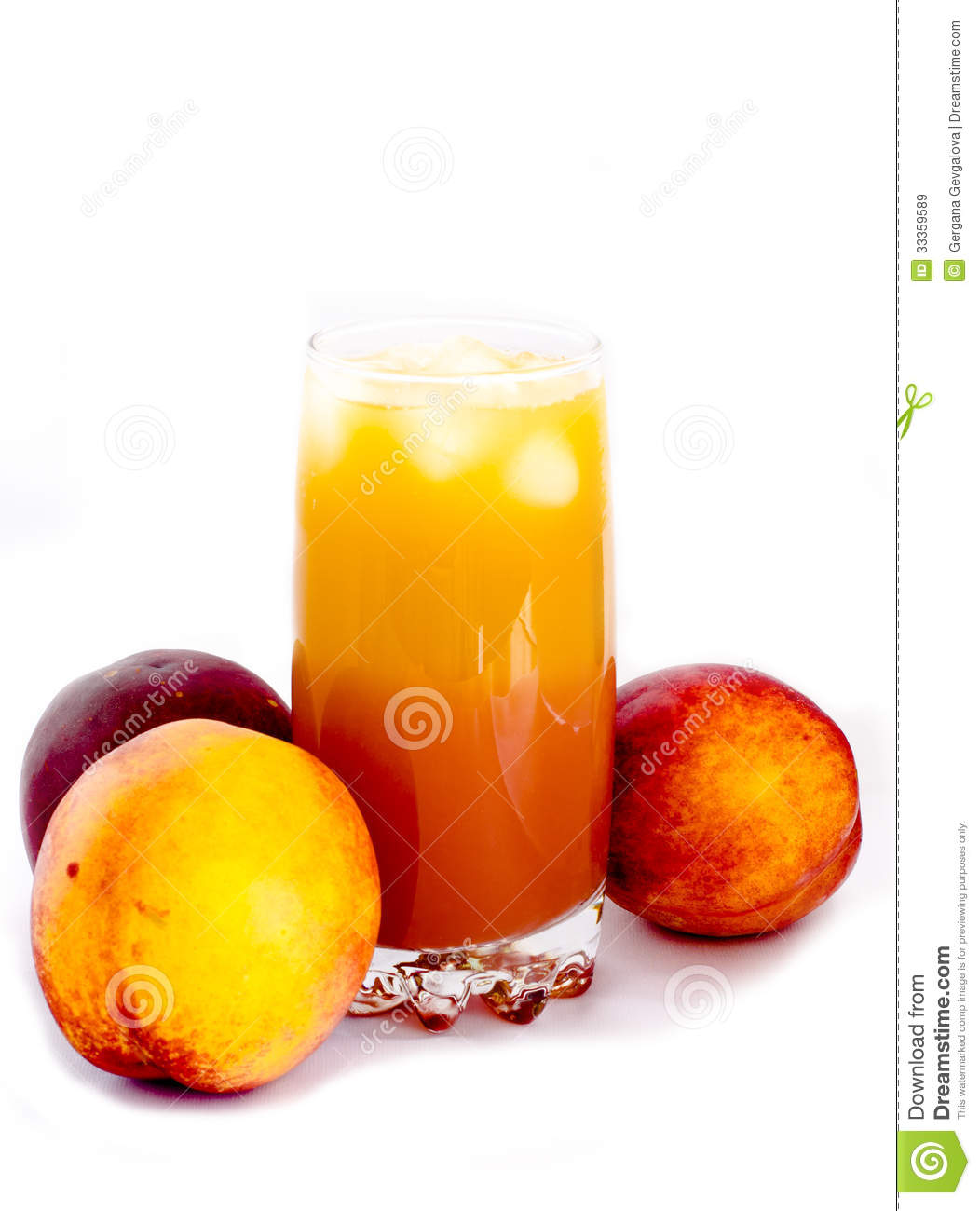 Glass Of Peach Juice Royalty Free Stock Images - Image: 33359589