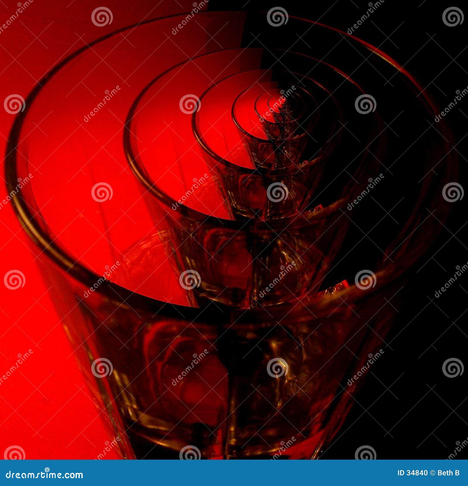 Glass röd upprepning