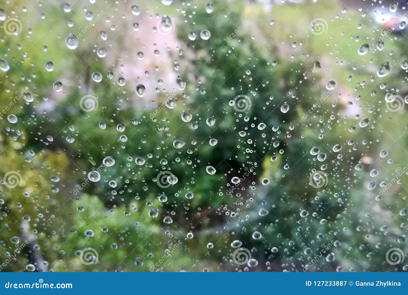 Glass raindrops