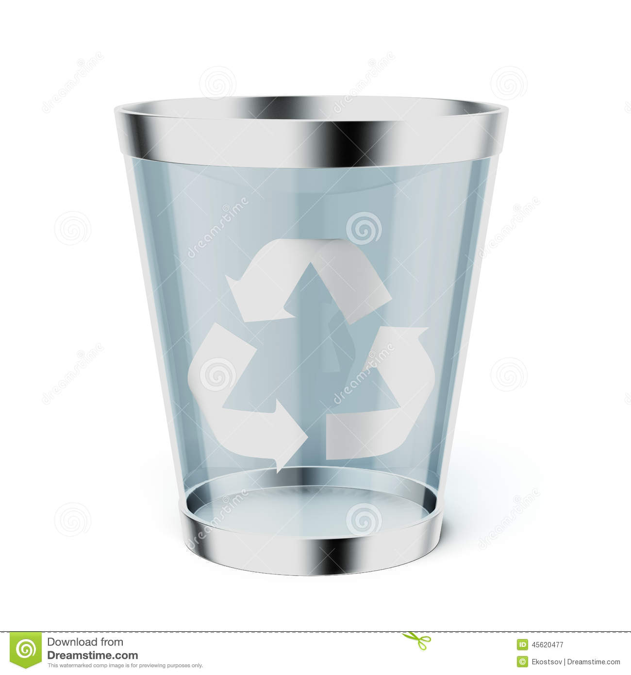 Glass Recycle Trash Can Stock Illustration Image 45620477