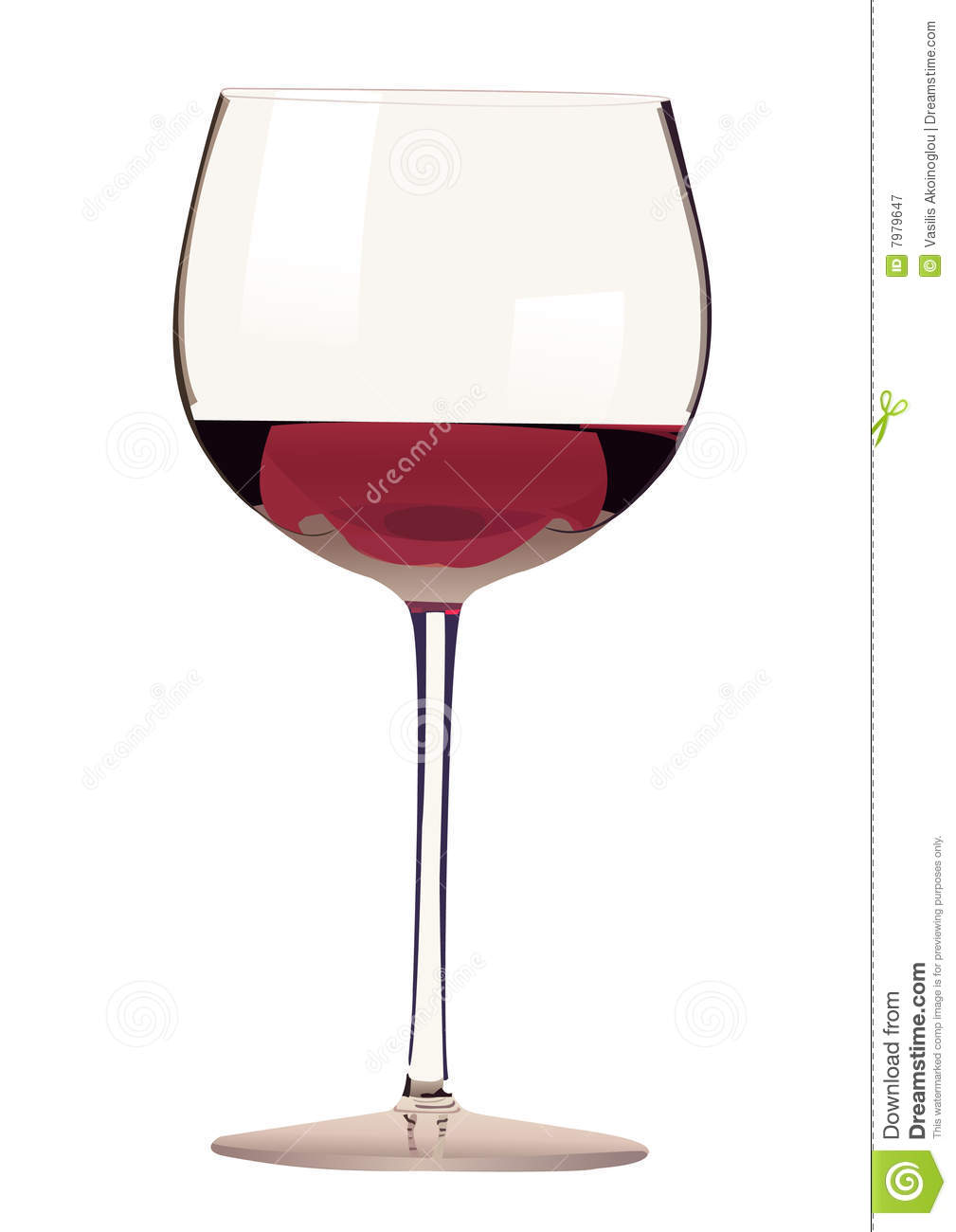 Glass Of Red Wine Illustration Stock Vector - Illustration ...