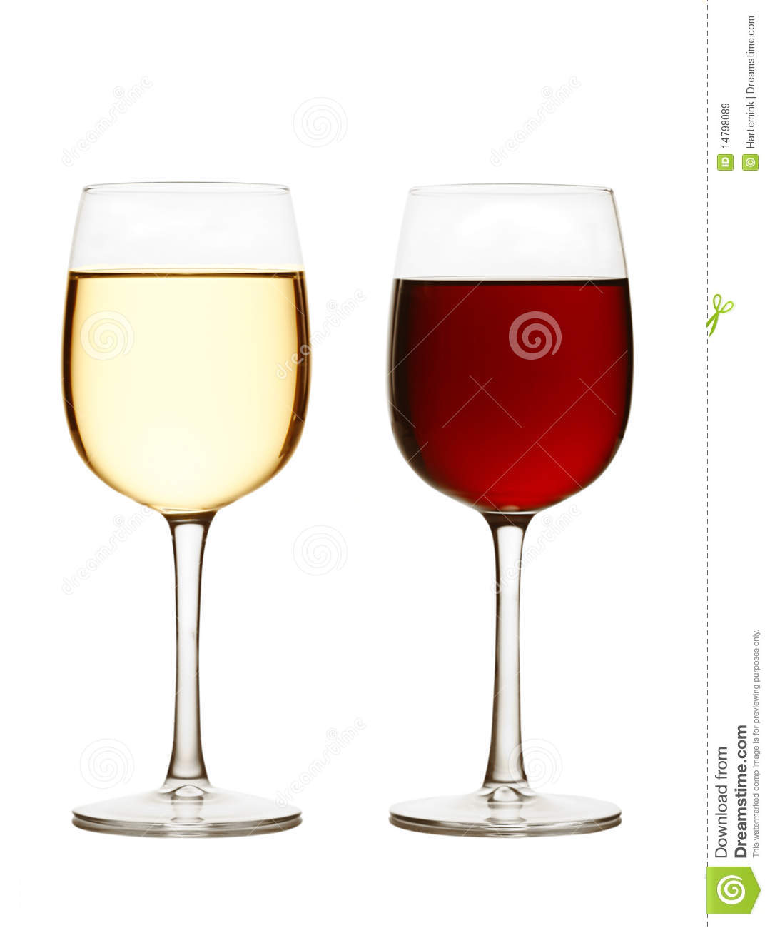 Glass Of Red Wine And White Wine Stock Image - Image of ...