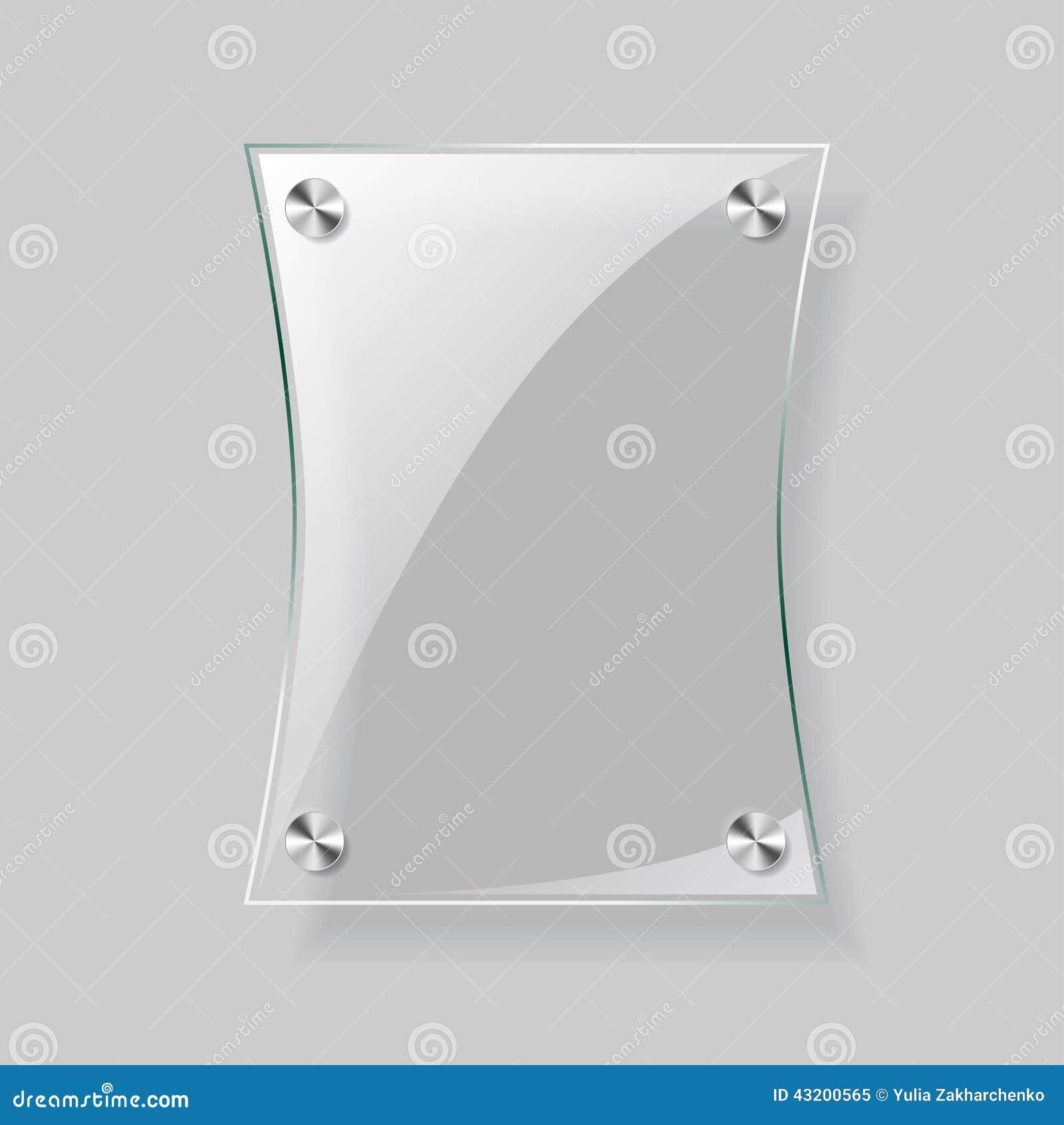 Download Glass rektangelnivå vektor illustrationer. Illustration av utställning - 43200565